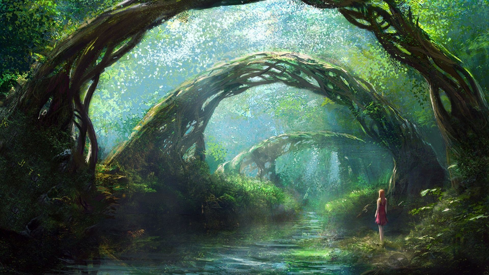 Fantasy Forest Wallpaper Wide or HD Fantasy Wallpapers #10417