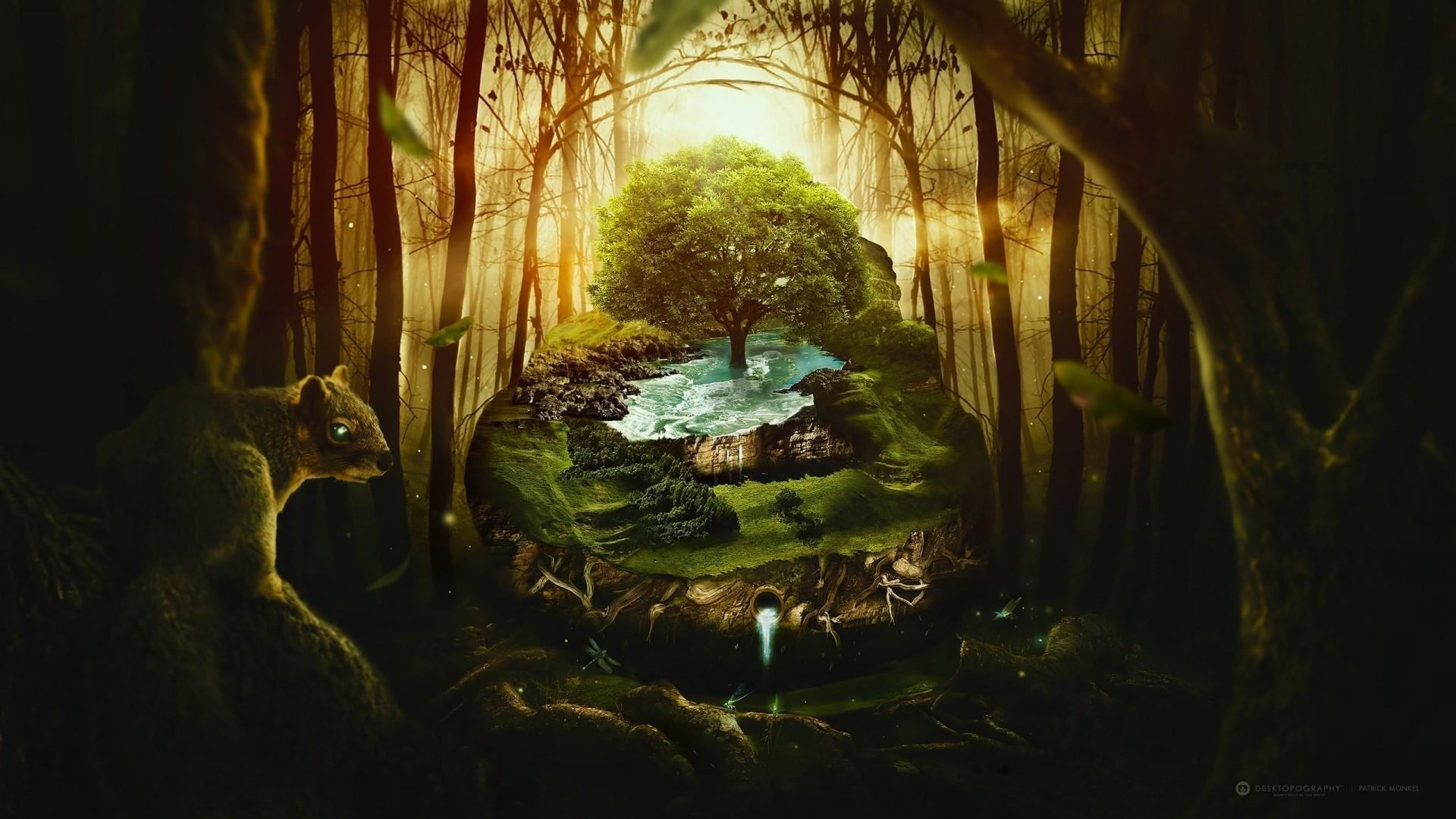 Title. Fantasy forest
