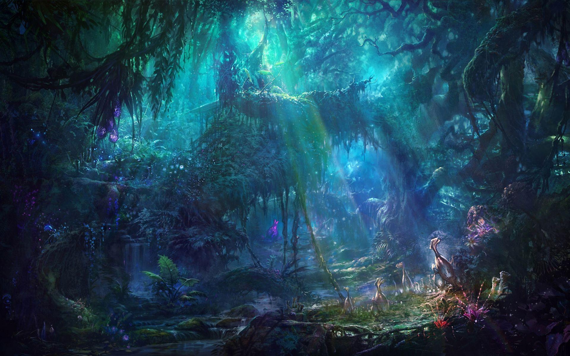 Fantasy Forest Landscape Free Wallpaper