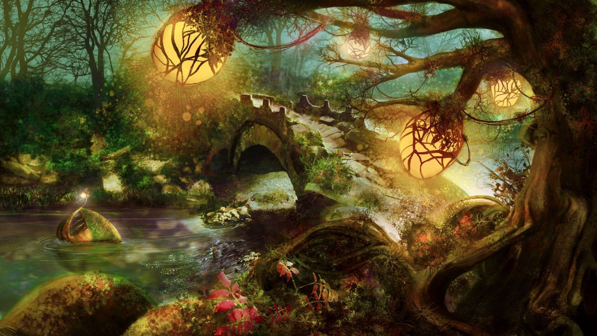 Nature Forest Wallpaper Nature, Forest, Fantasy, Art ..
