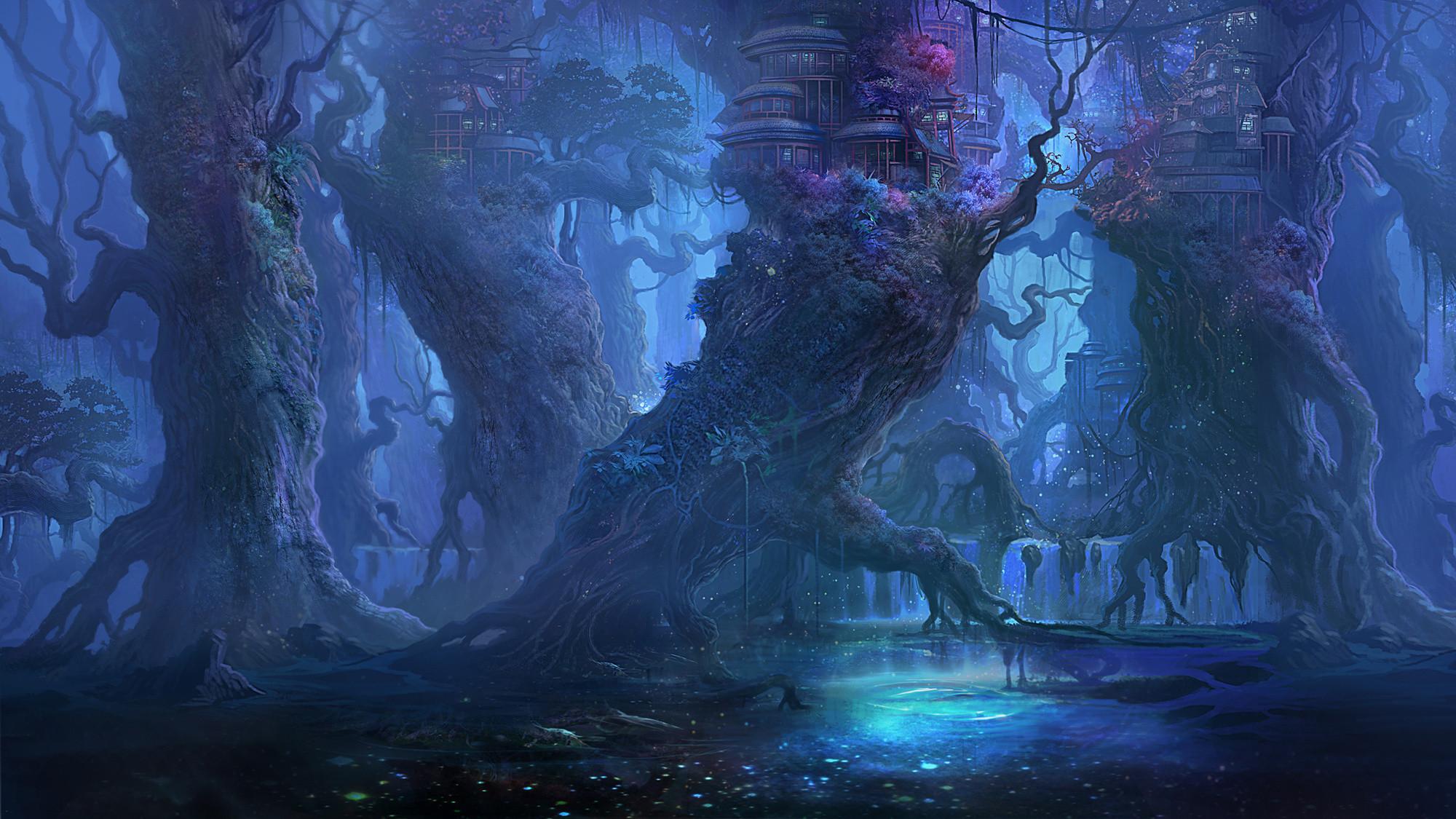 Fantasy Forest Landscape Desktop Wallpaper