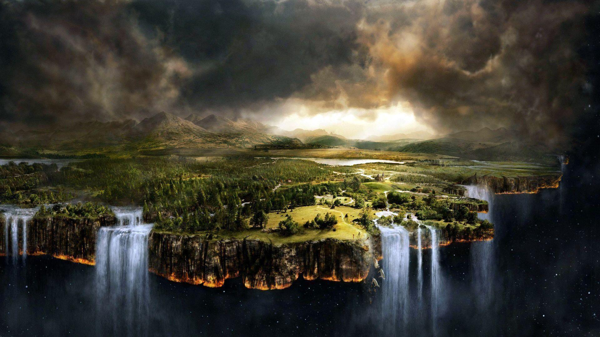 Fantasy-Forest-Waterfalls-HD- .