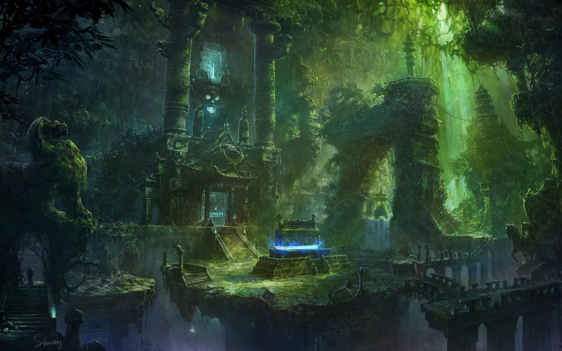 ArtStation – Ancient tomb, li shuxing