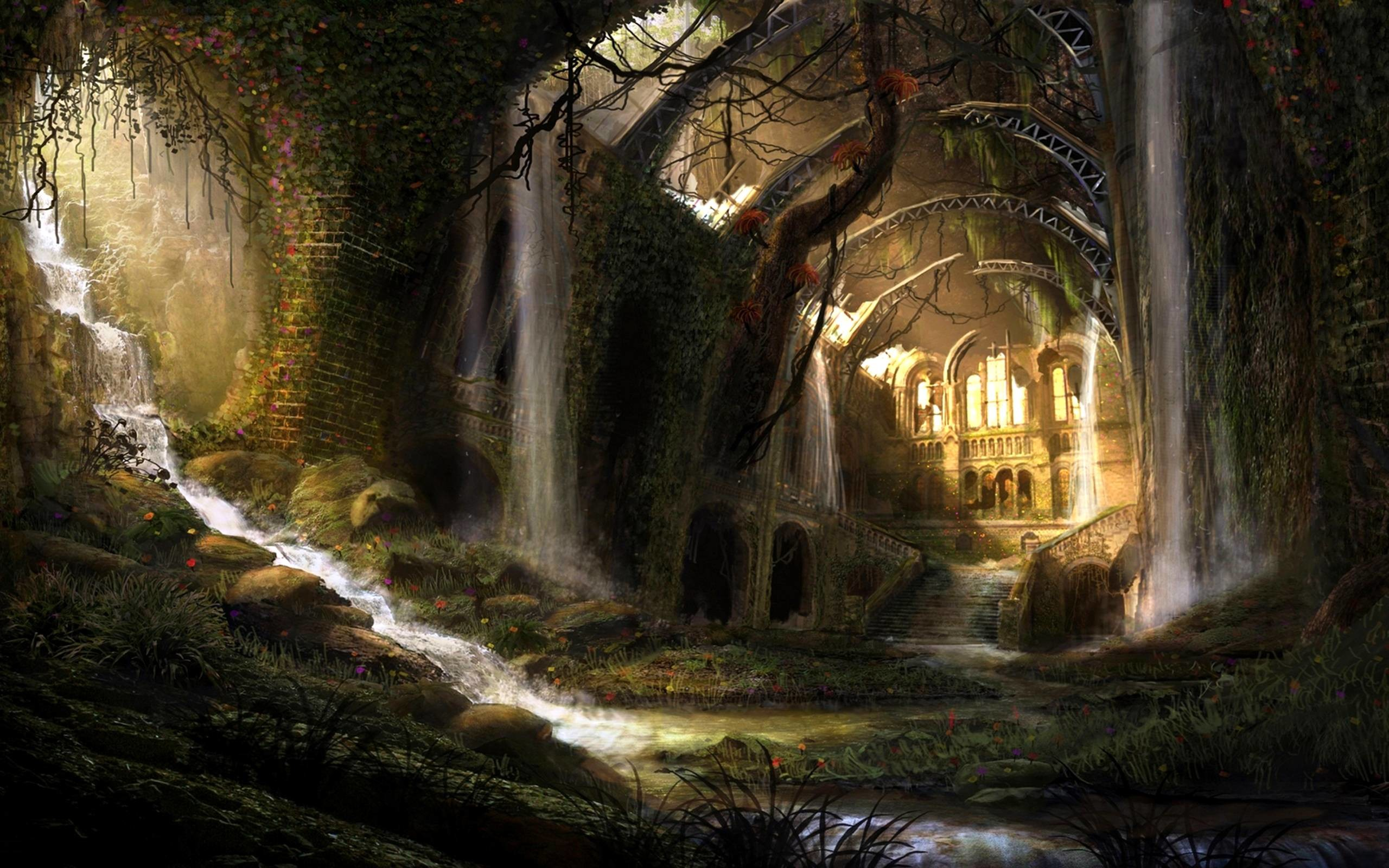 castles ruins castle fantasy artwork abandoned art fantasy HD Wallpapers  for desktop computer, high definition wallpapers for Dual monitors and  standard …