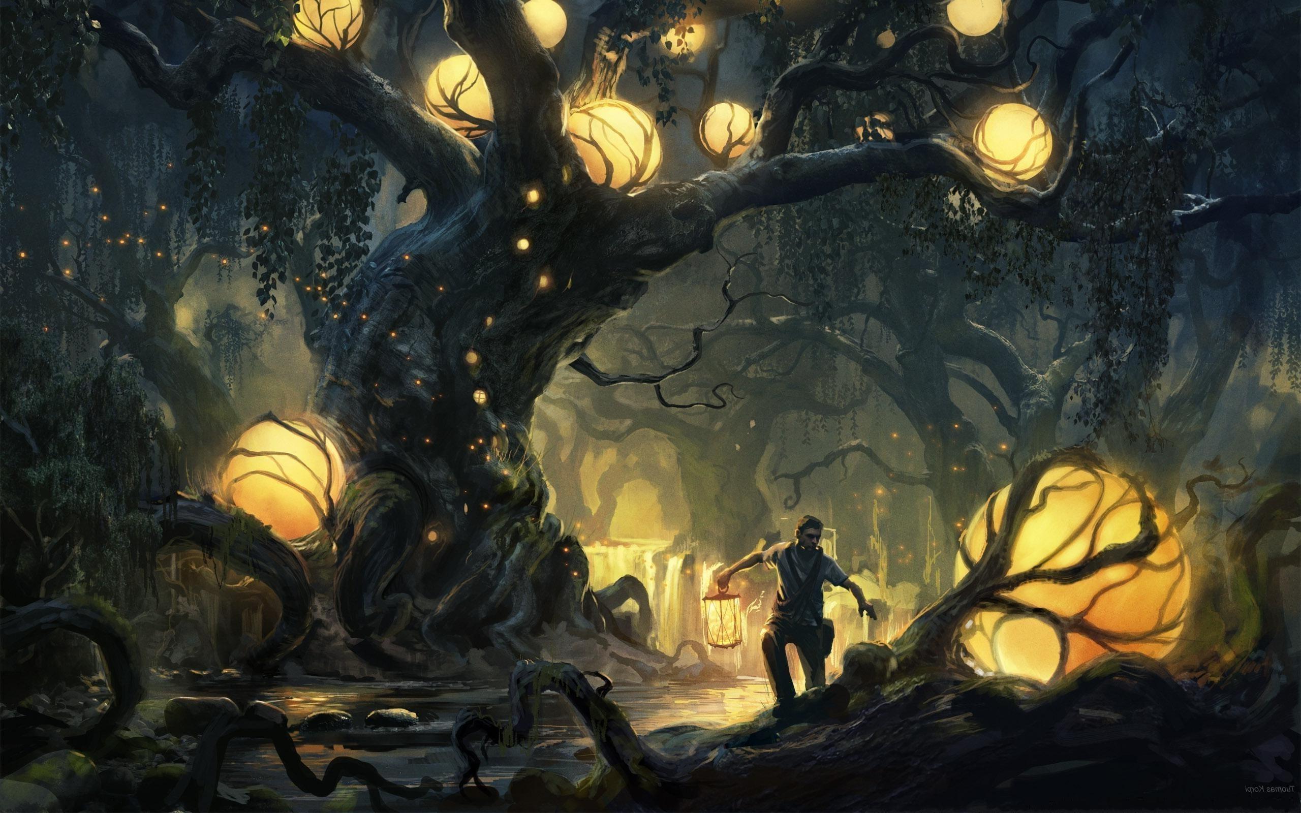 fantasy Art, Forest Wallpaper HD