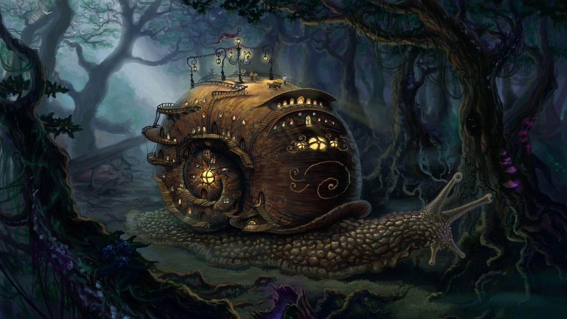 Fantasy Forest Hd High Quality Wallpapers HD Wallpapers px 1.05  MB   Wallpapers   Pinterest   Fantasy art landscapes, Steampunk city and  Steampunk