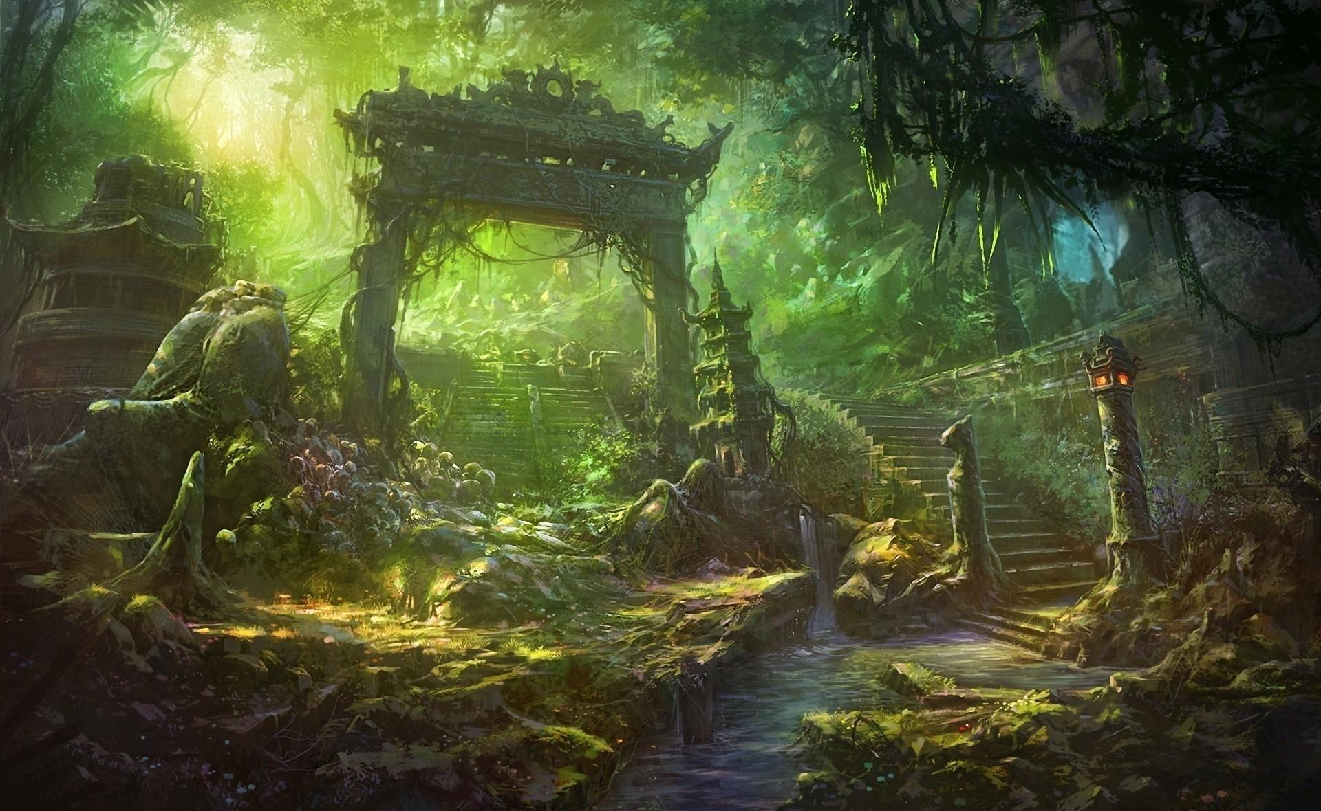 Fantasy Forest Landscape Cool Wallpapers