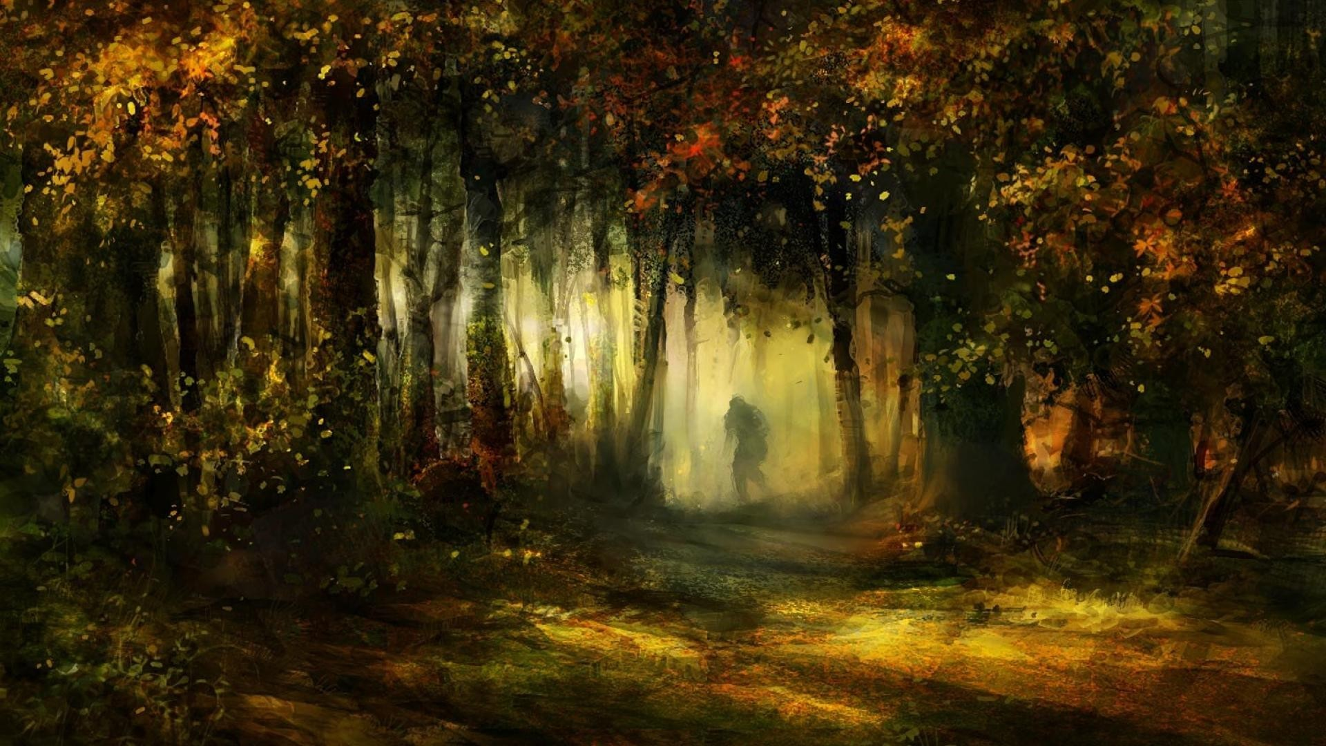 Human Tag – Human Deep Mystic Forest Art Tree Nature Mist Fantasy Awesome  Artwork HD Backgrounds