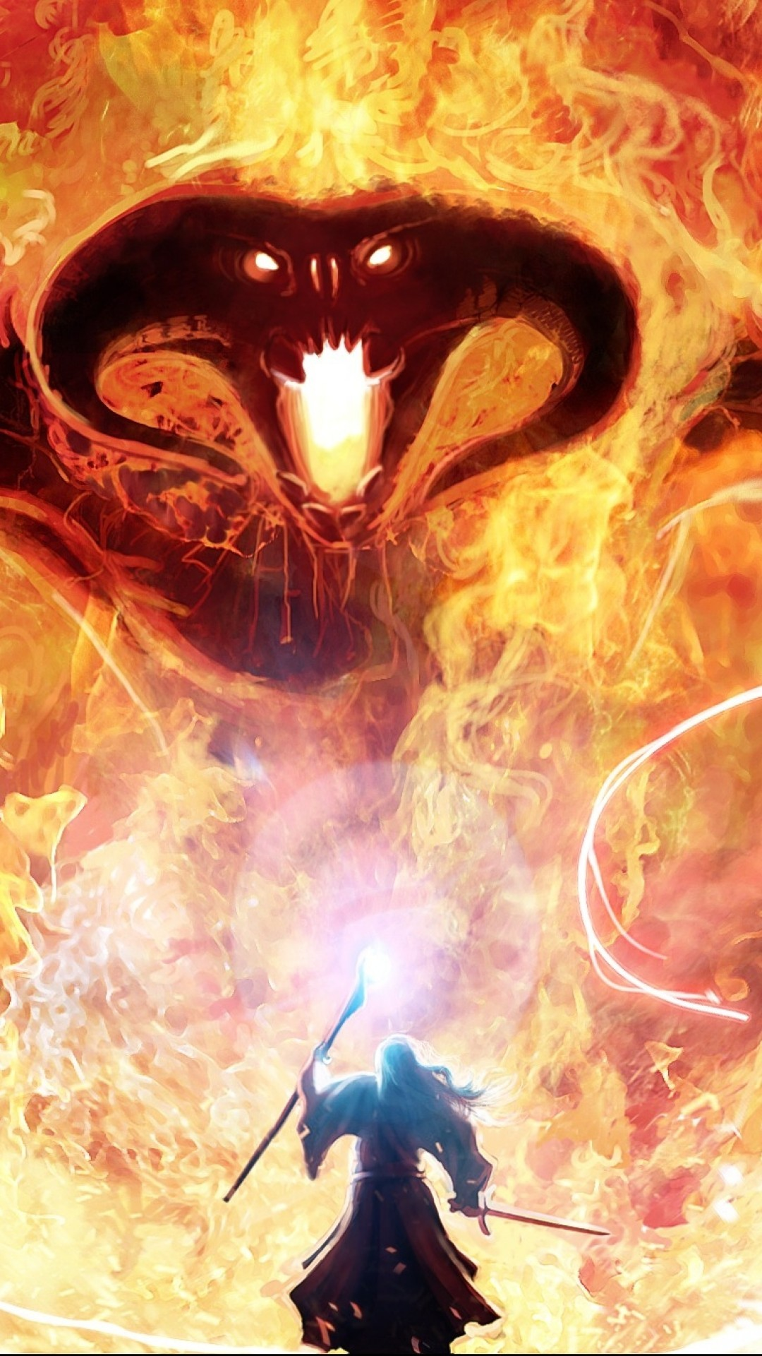 Lord Of The Rings, Balrog, Gandalf, Fire, Tolkien, Magic, Monster