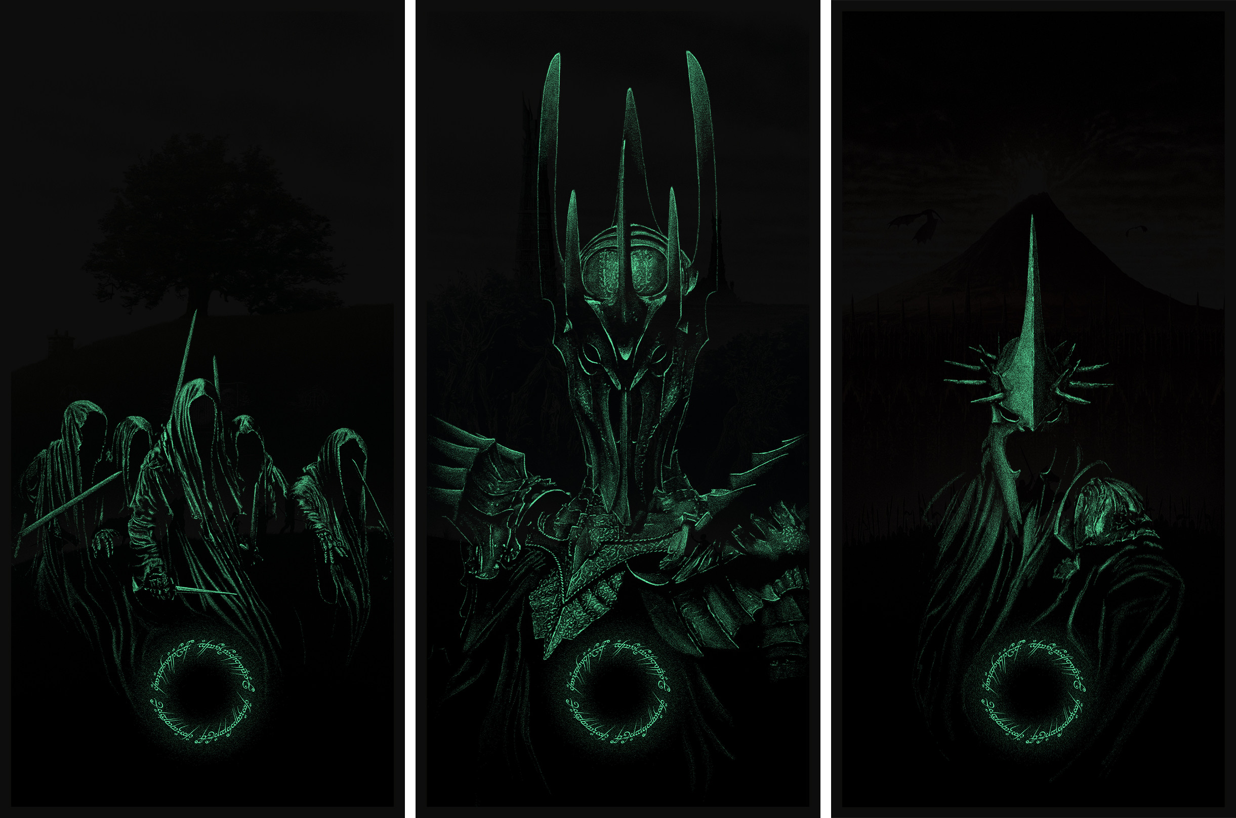 Marko Manev The Lord of the Rings GID Triptych set