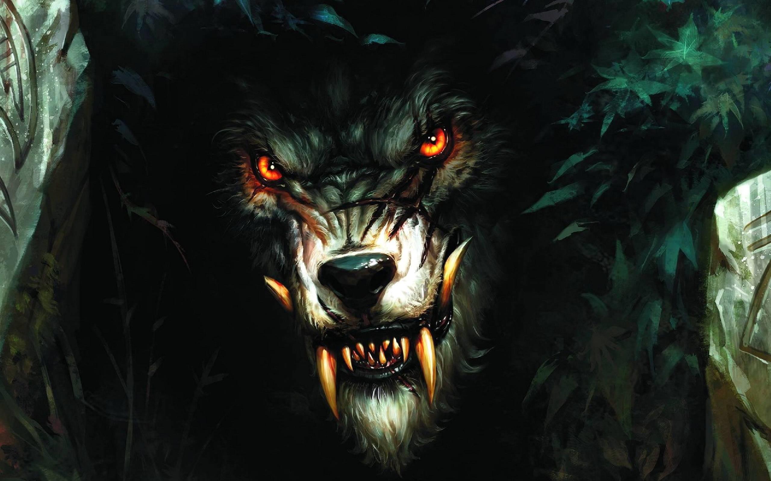 Pix For > Halloween Werewolf Wallpaper