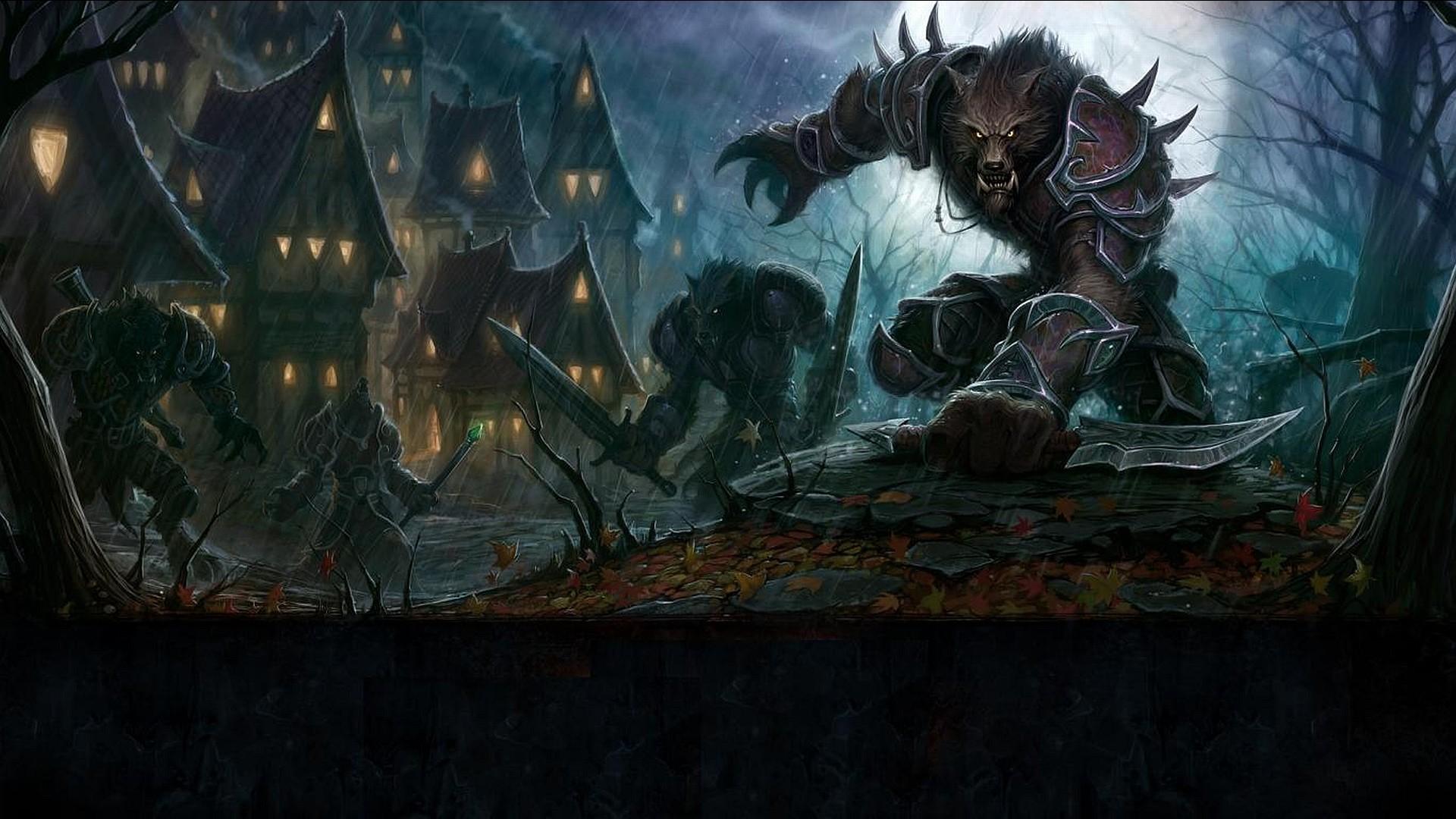 Nocturnal Clash wallpaper from Werewolf wallpapers Evil HD | Wallpapers 4k  | Pinterest | Werewolves and Wallpaper