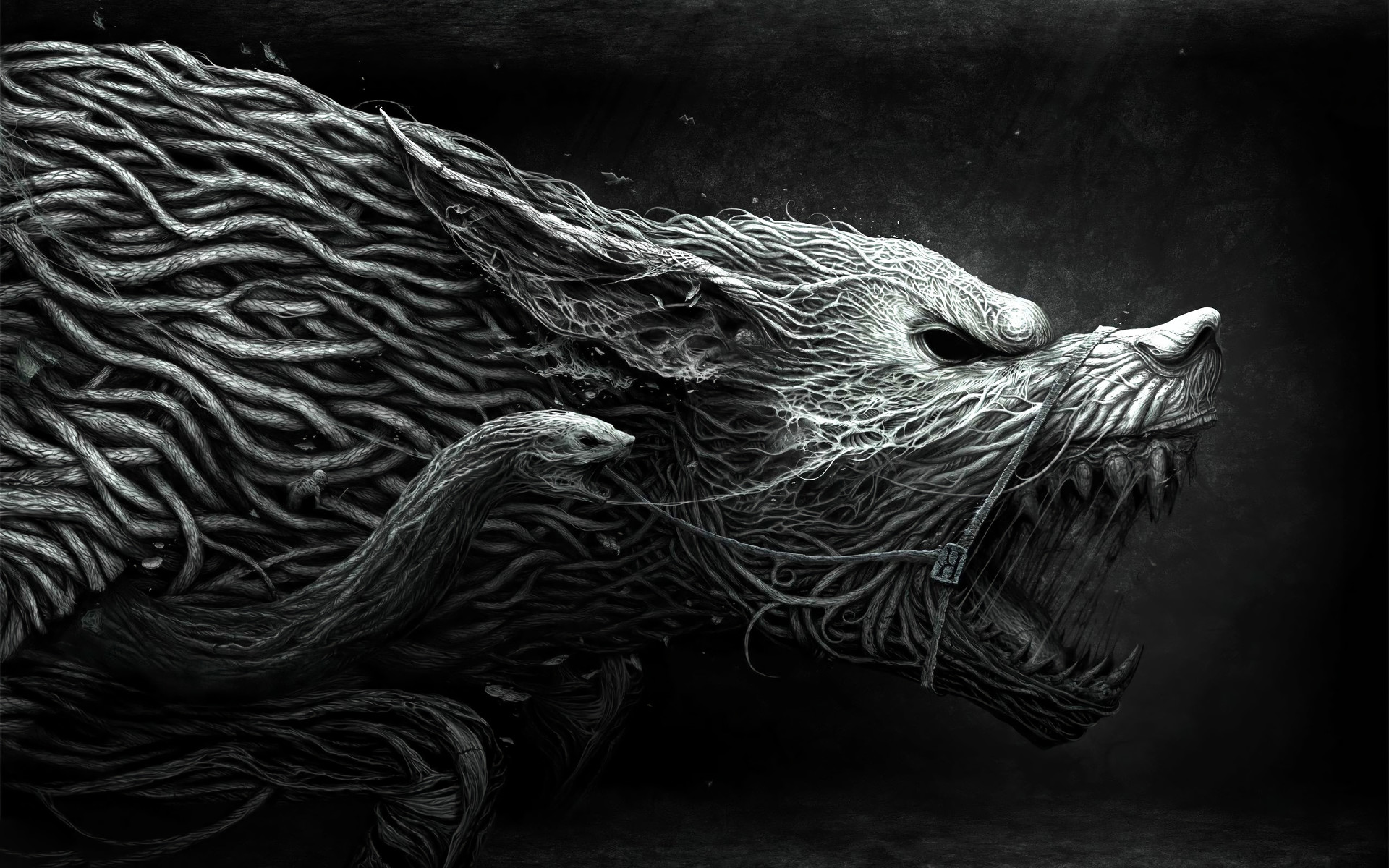 Dark – Werewolf Dark Animal Fantasy Creature Snake Black Creepy Wallpaper