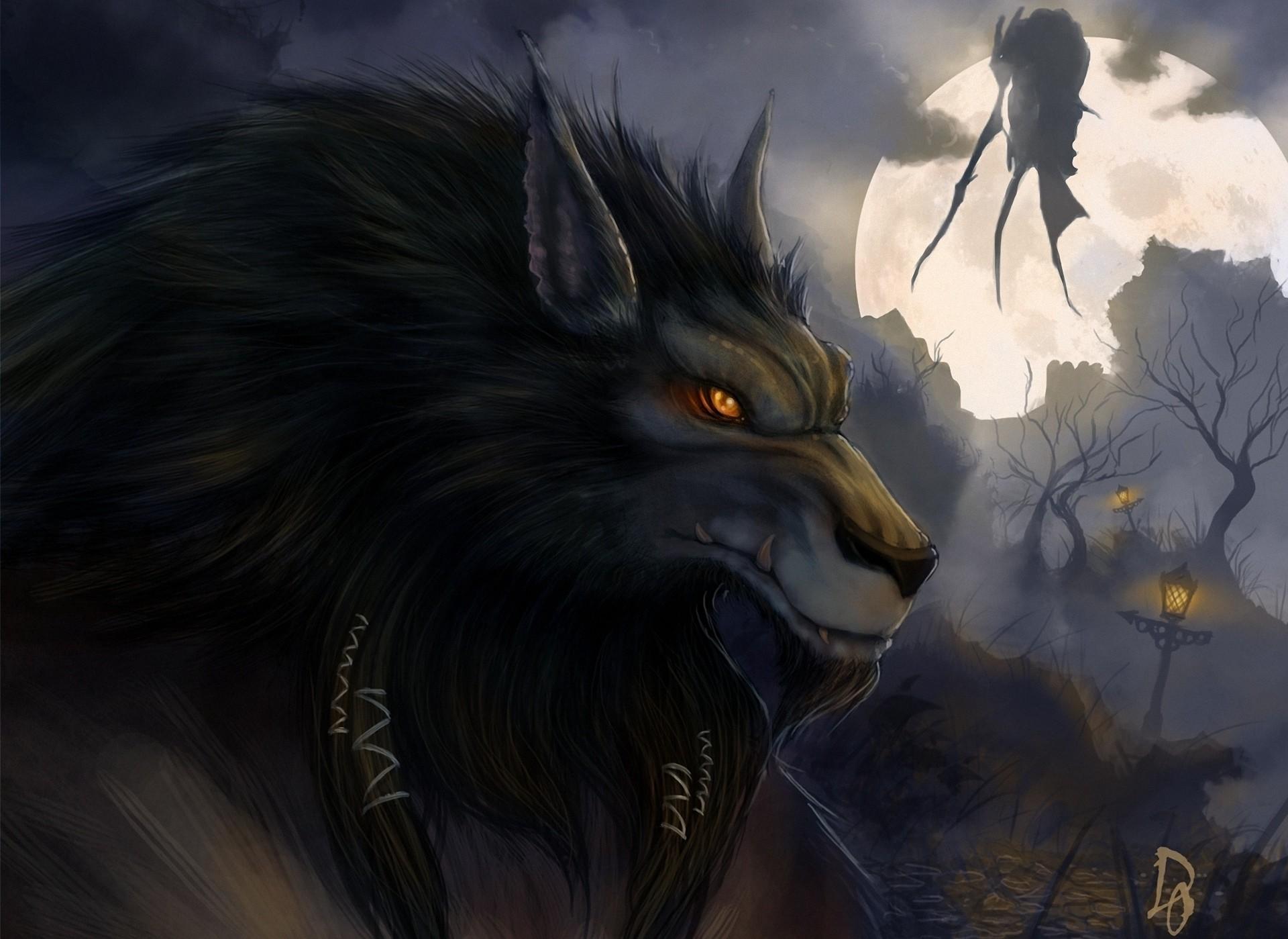 Video Game World Of Warcraft Werewolf Halloween Dark Horror Wallpaper