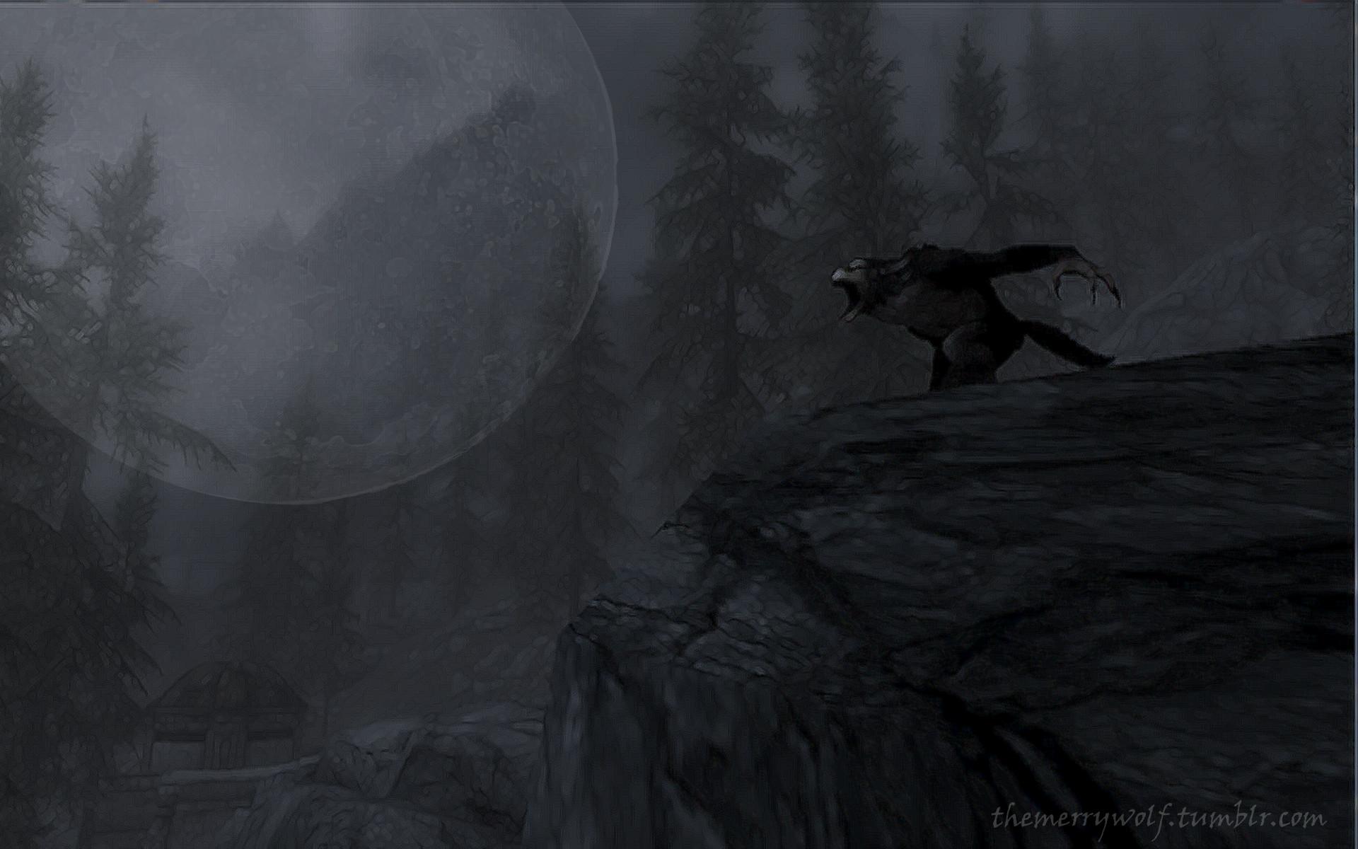 Skyrim Werewolf Wallpaper by TheMerryWolf Skyrim Werewolf Wallpaper by  TheMerryWolf