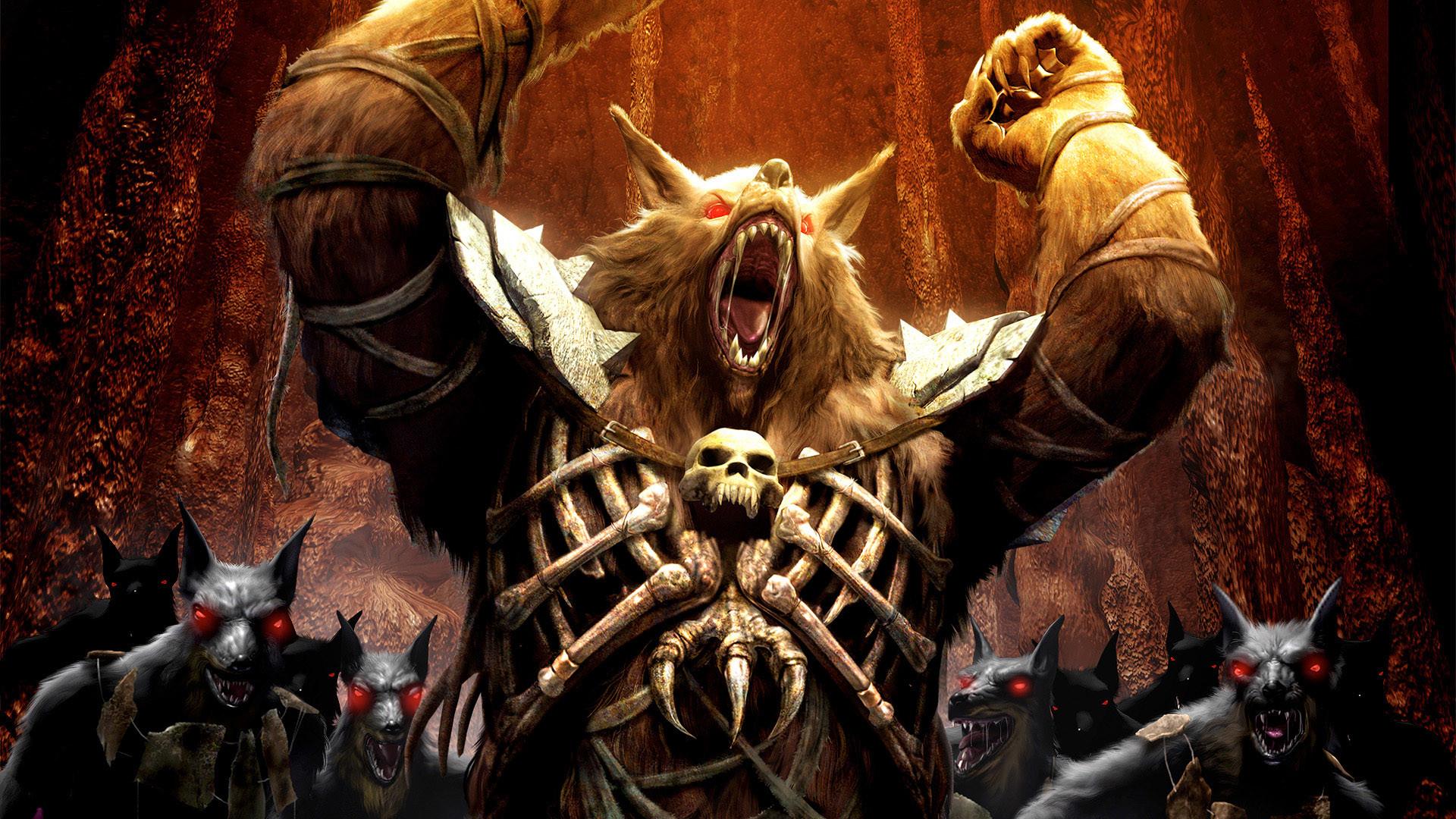 Dark Werewolf Wolf Warrior Fantasy Wallpaper
