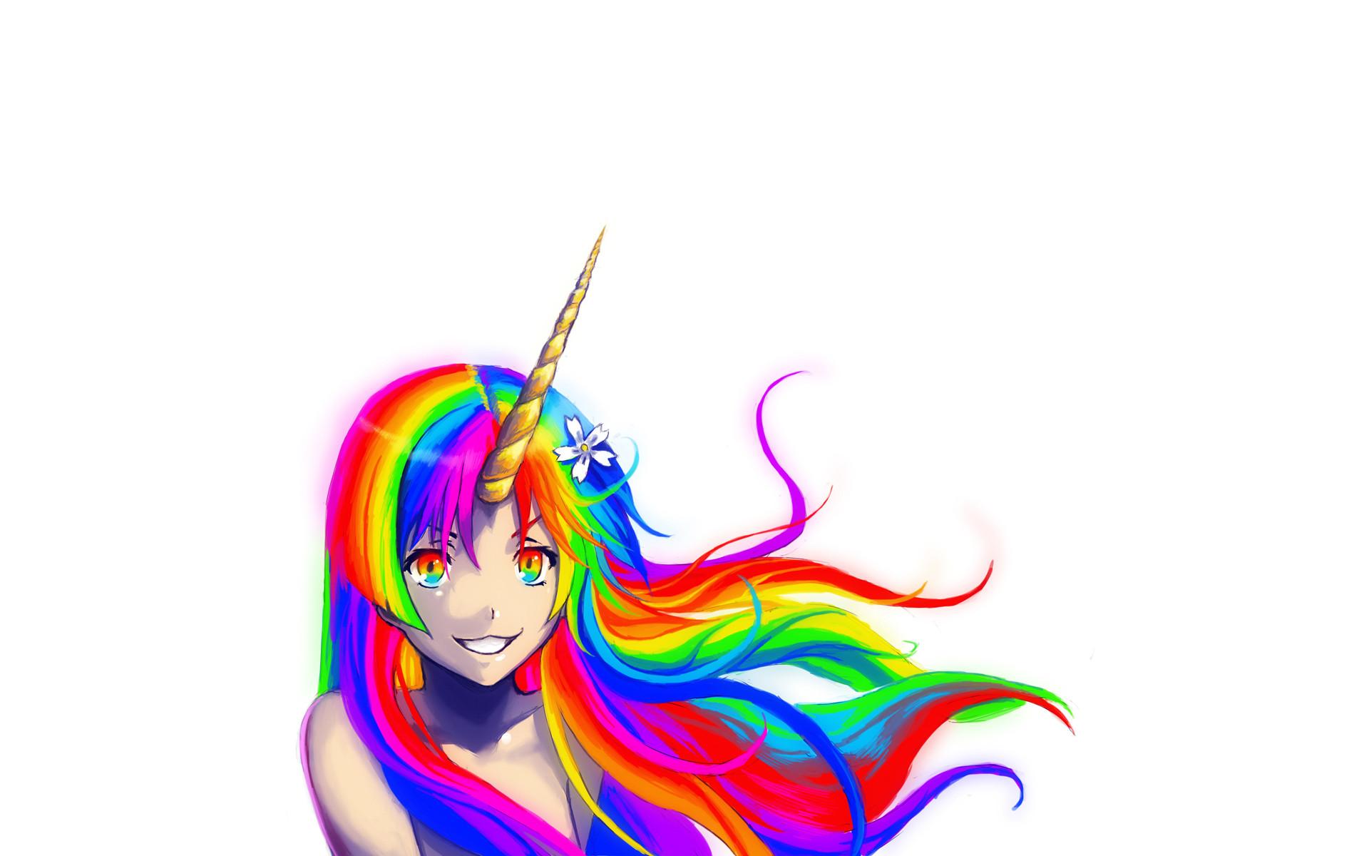 Unicorns Rainbows Wallpaper Unicorns, Rainbows, Bright, Soft .