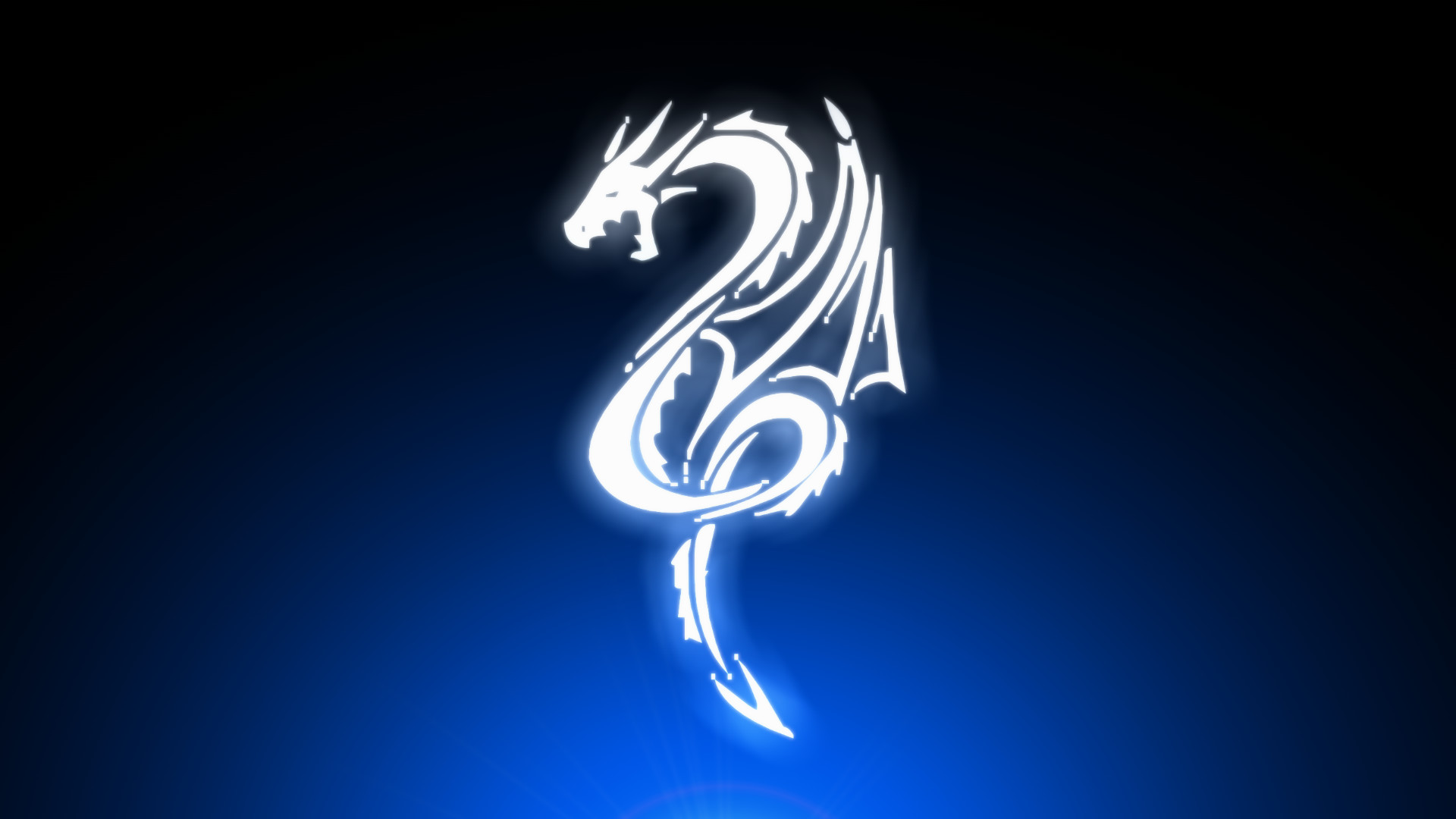 … digitalart wallpapers, blue wallpapers. White Dragon by Extraterrien on  DeviantArt