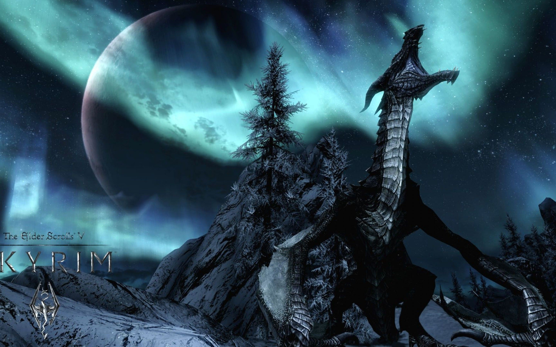 Skyrim Dragon wallpaper – 1105141