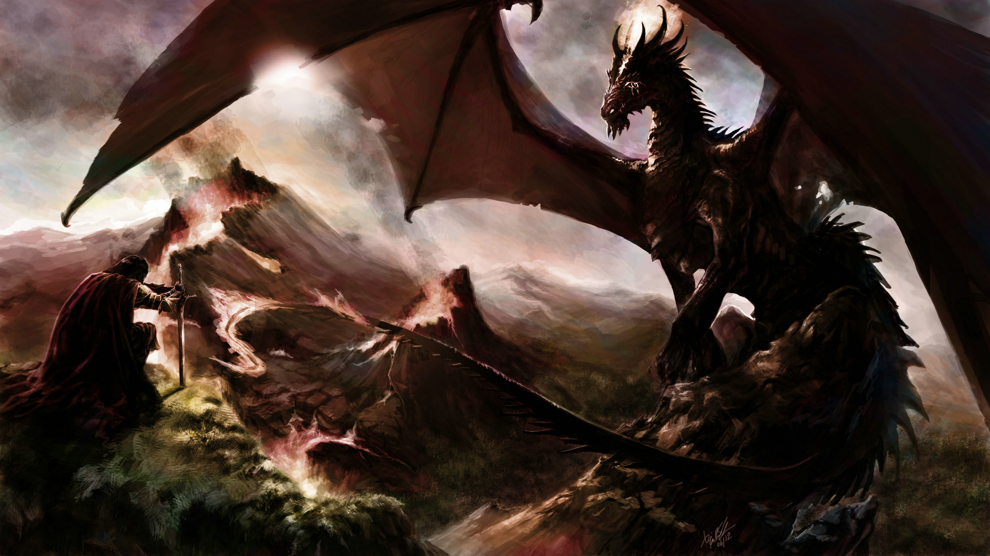 Fantasy Dragon Ultra HD 4K Wallpapers