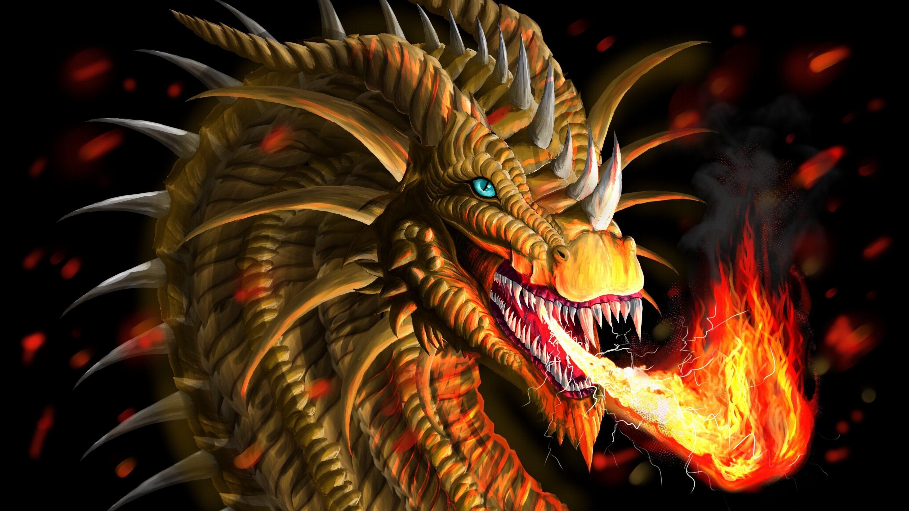HD Dragon 4k Wallpaper. 0.695 MB