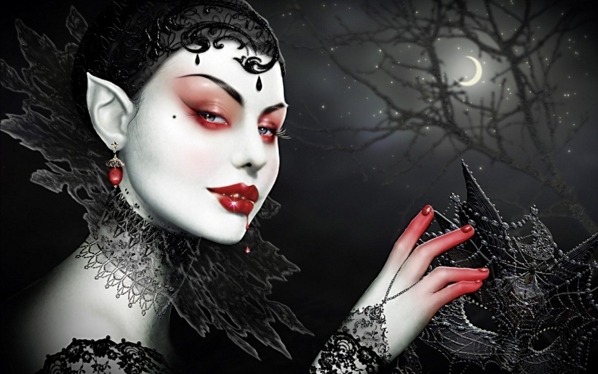 Fantasy Artwork Art Dark Vampire Gothic Girl Girls Horror Evil Blood  Wallpaper At Dark Wallpapers