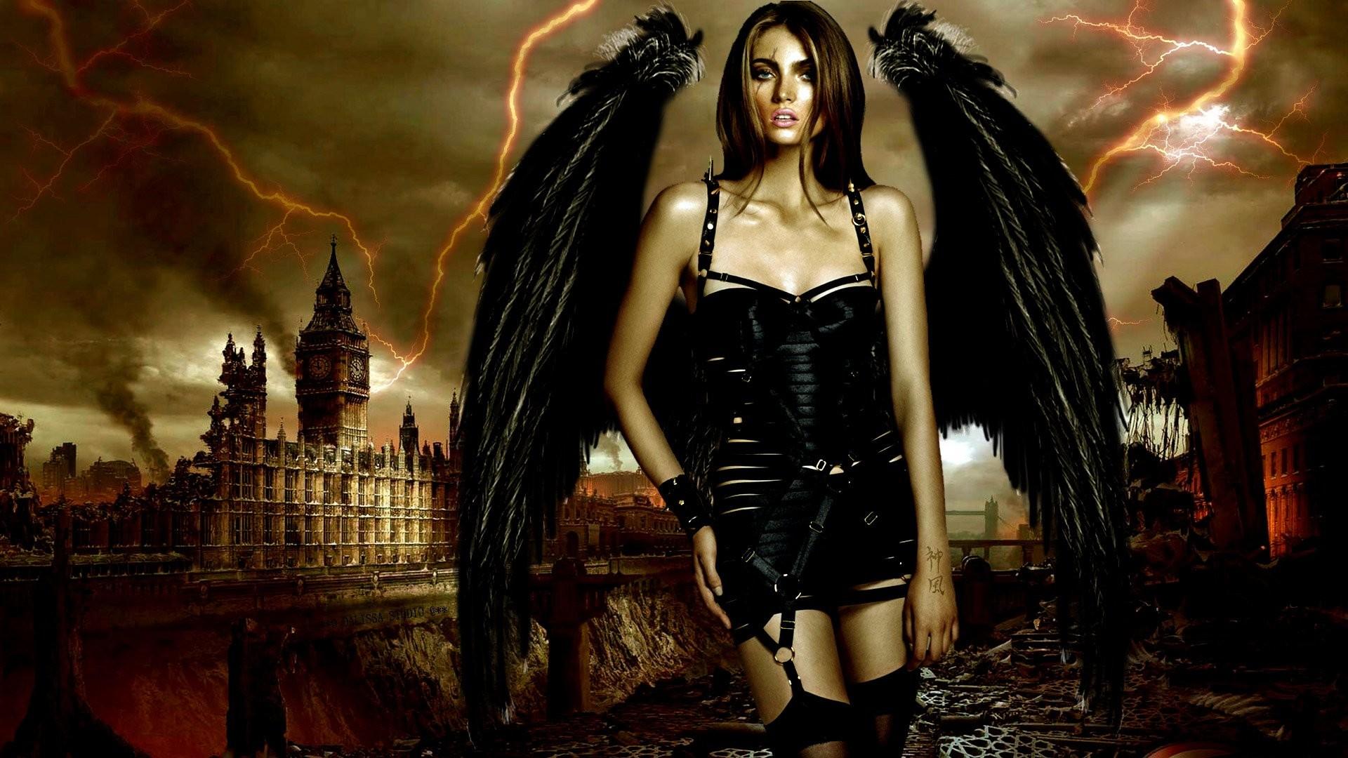 Dark – Women Dark Angel Wings Vampire Wallpaper