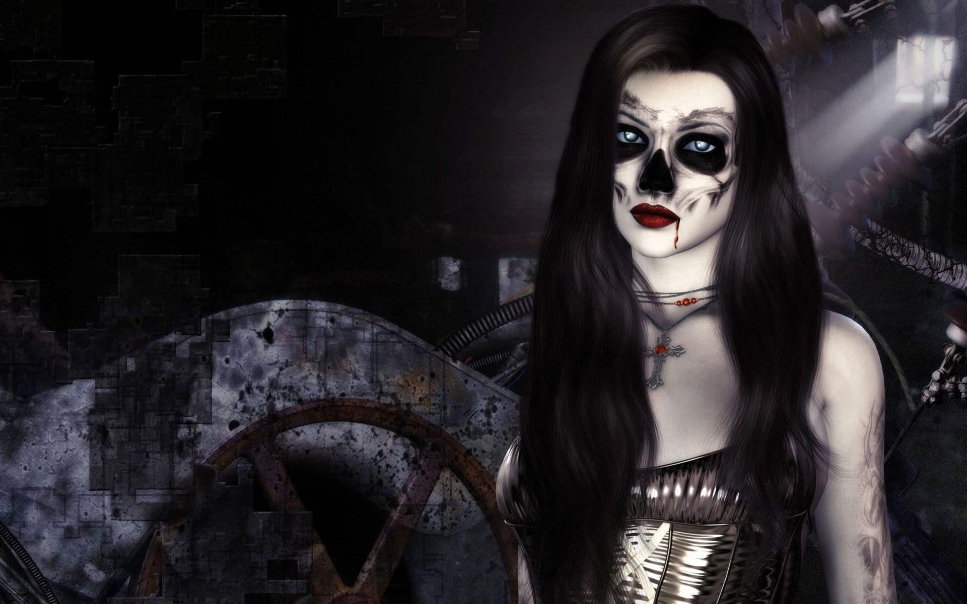 Beautiful Horror Vampire Girl wallpaper