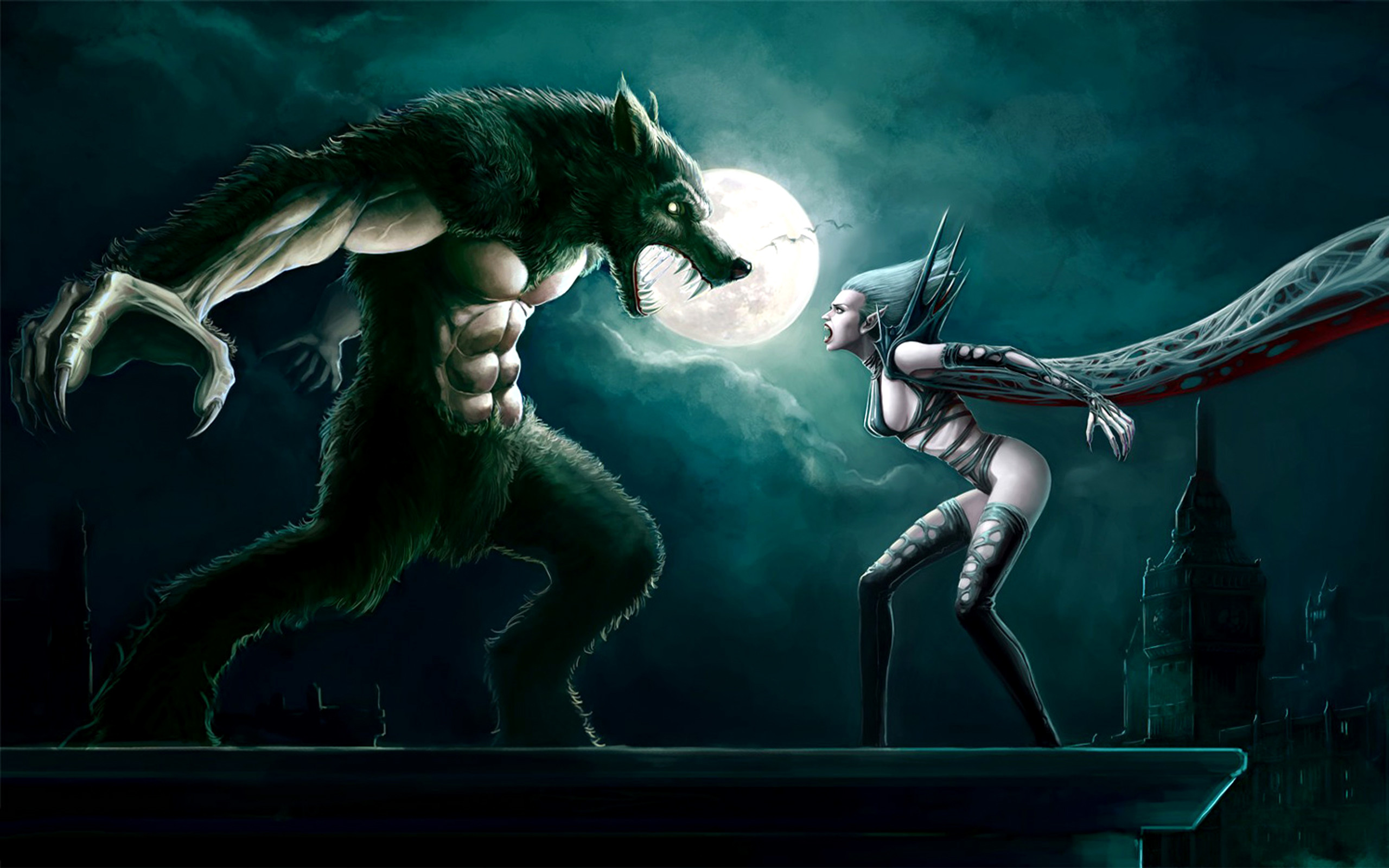 Female Lycan | Dark – Battle – Vampire – Werewolf – Women Wallpaper