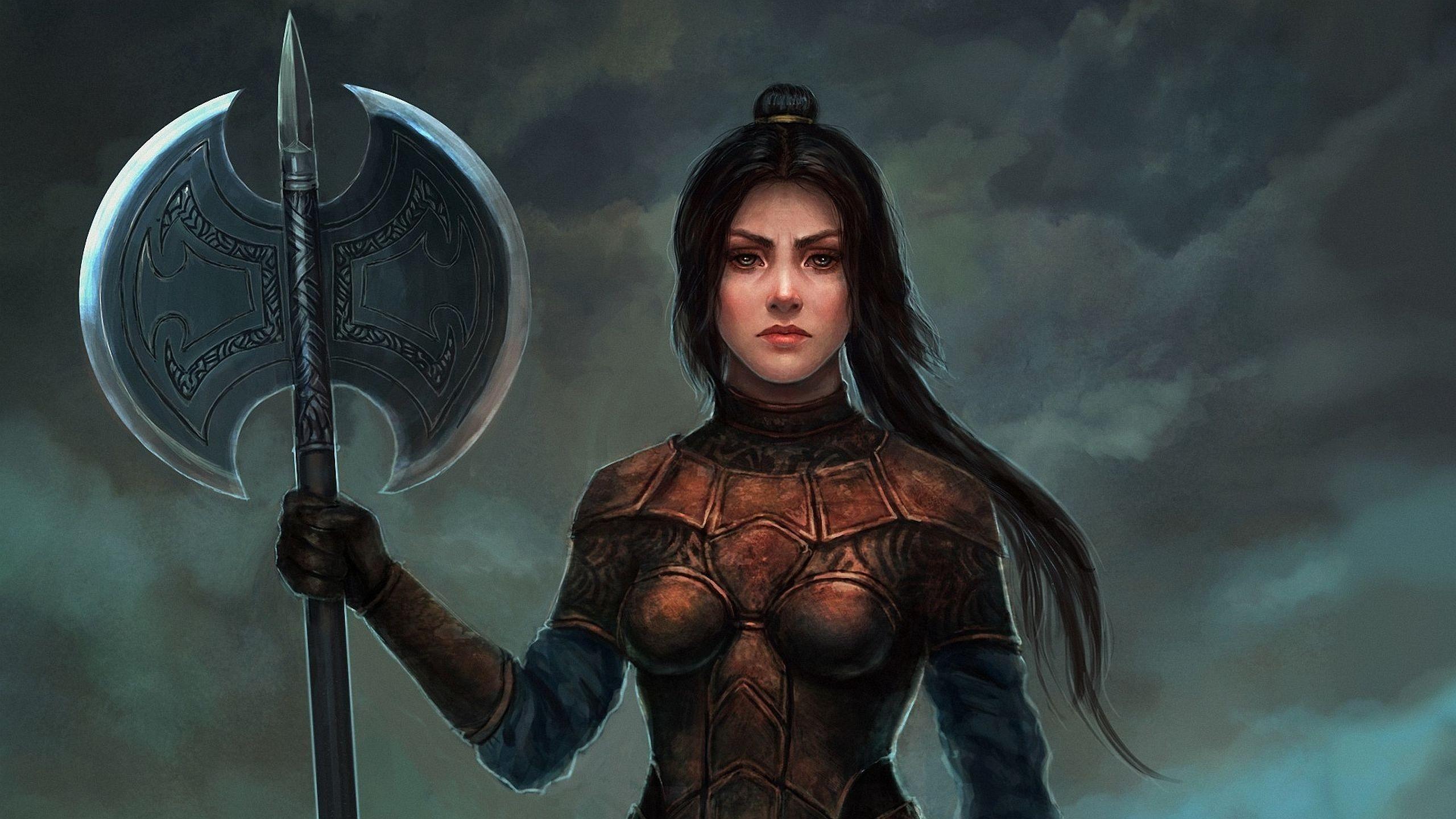 Woman warrior desktop wallpaper 13942