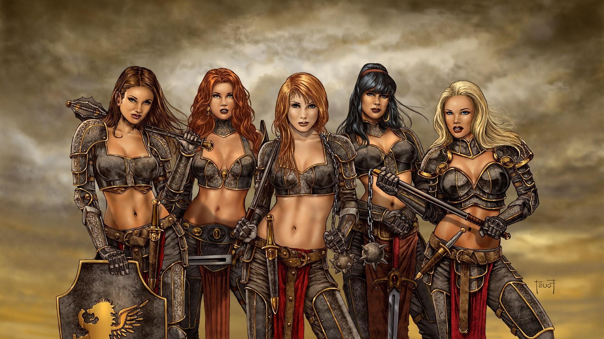 artwork, Fantasy Art, Women, Warrior Wallpapers HD / Desktop and Mobile  Backgrounds
