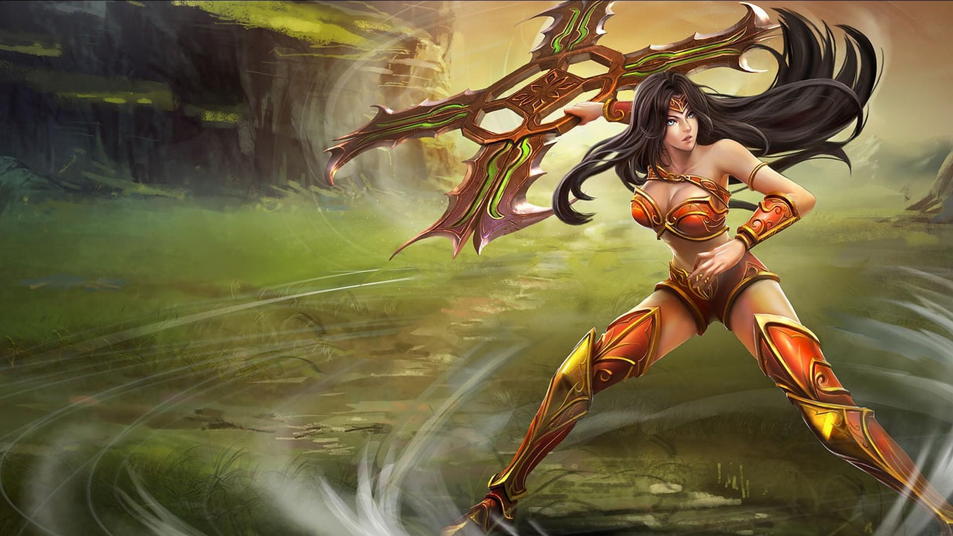 Download Free fantasy Wallpapers | women warrior Wallpaper Backgrounds |  WallpaperBackgrounds.com