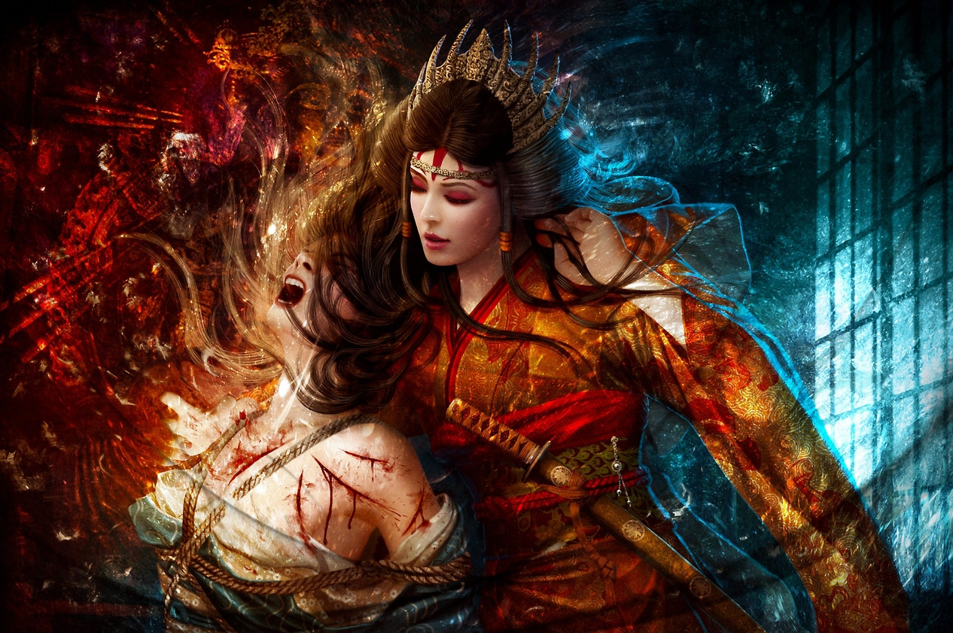Fantasy – Legend Of The Five Rings Woman Warrior Wallpaper