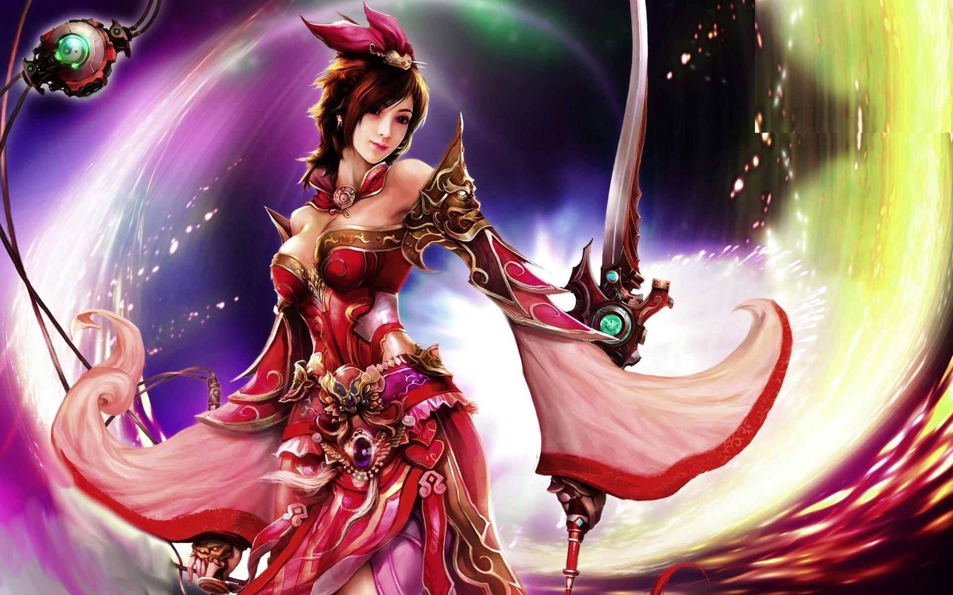 Beautiful Asian Woman Warrior