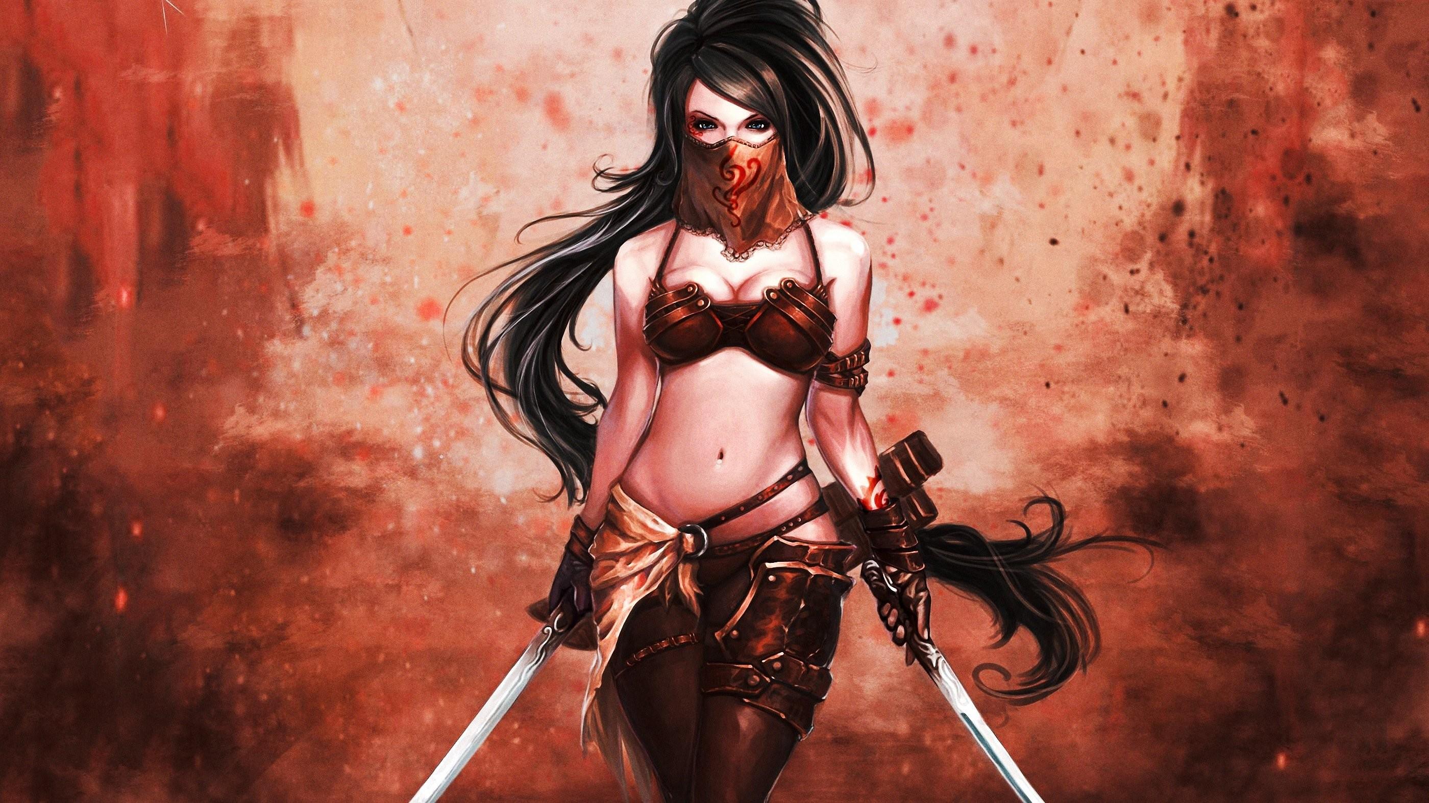 Fantasy artwork art women girl girls female warrior wallpaper | |  822767 | WallpaperUP