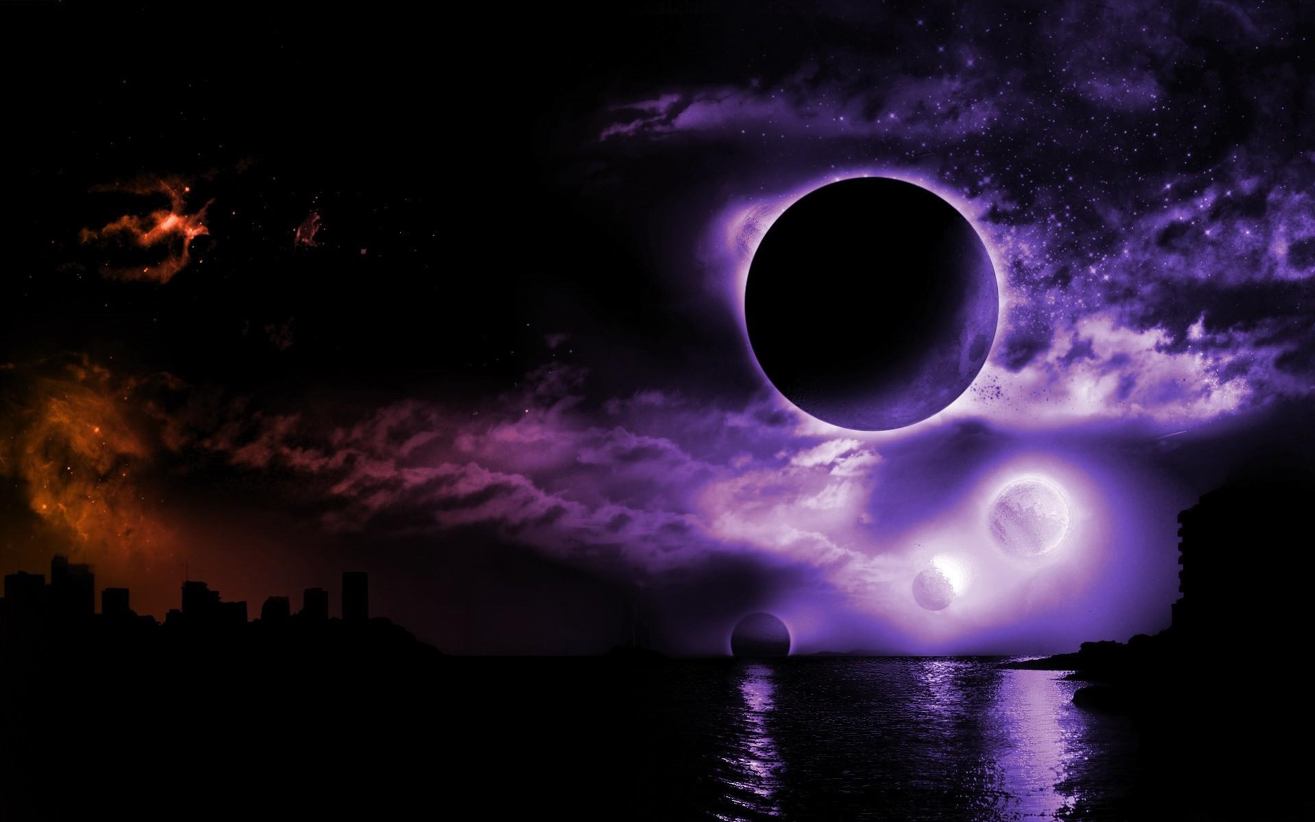top moon background