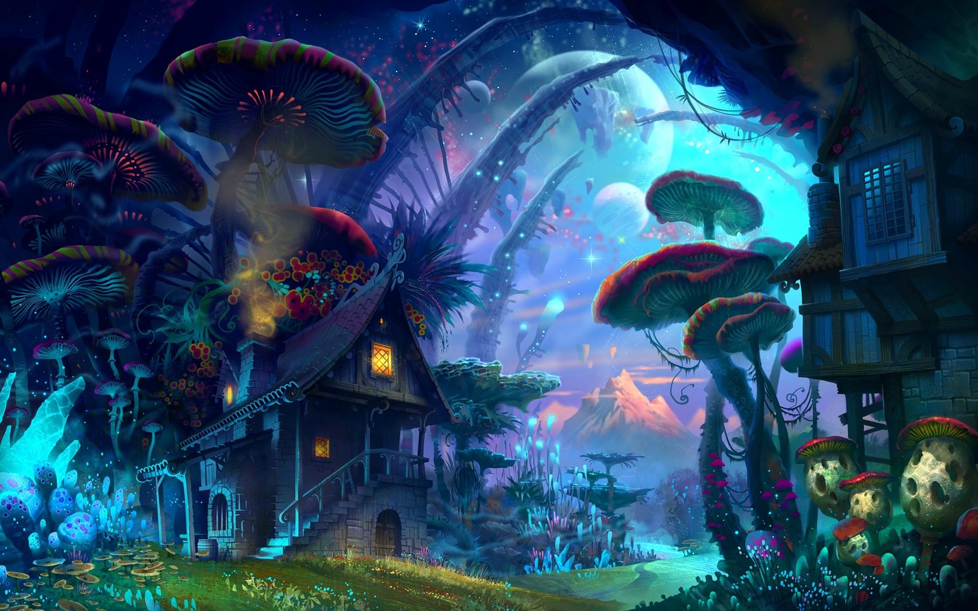 wallpaper Moon · landscape · fantasy