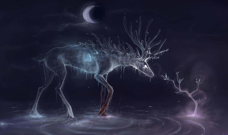 Animal – Artistic moon 3d winter fantasy wallpaper | | 531235 |  WallpaperUP