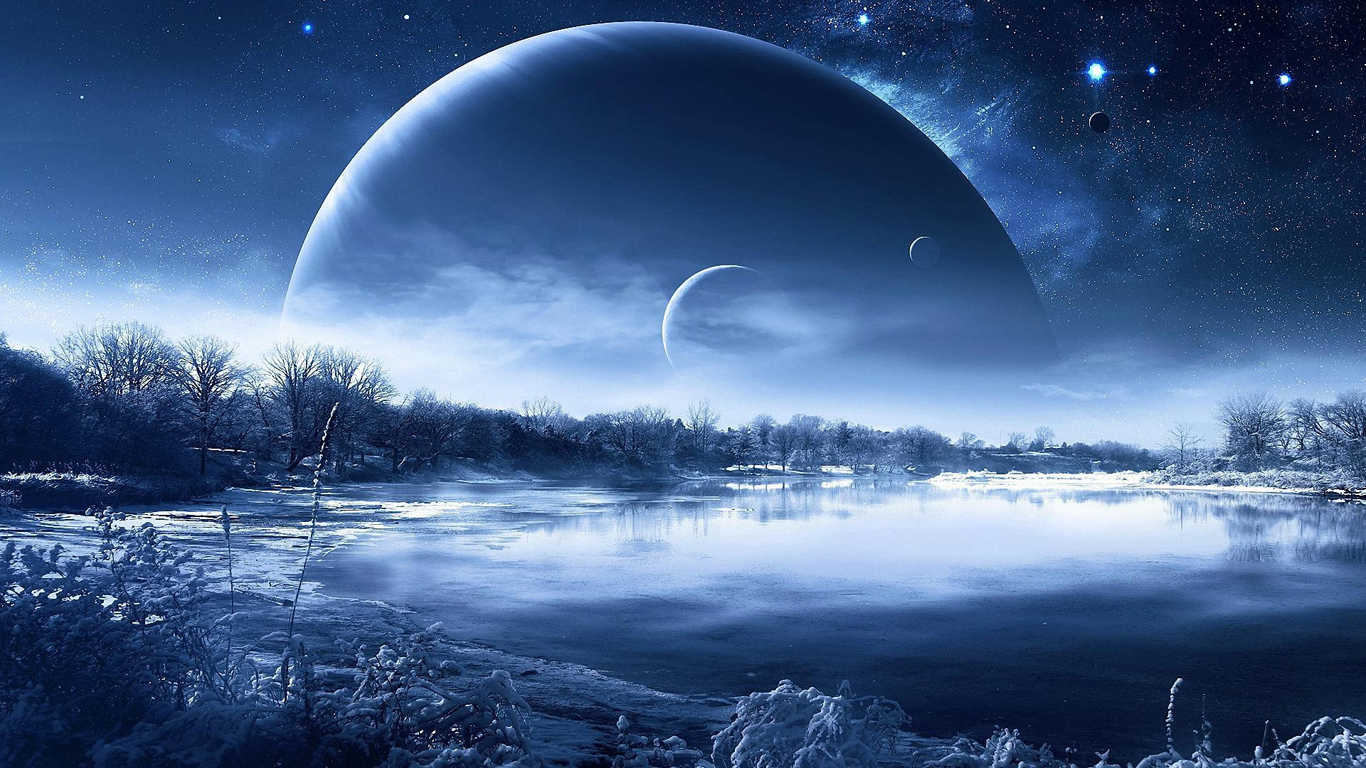 3D abstract fantasy peaceful cold