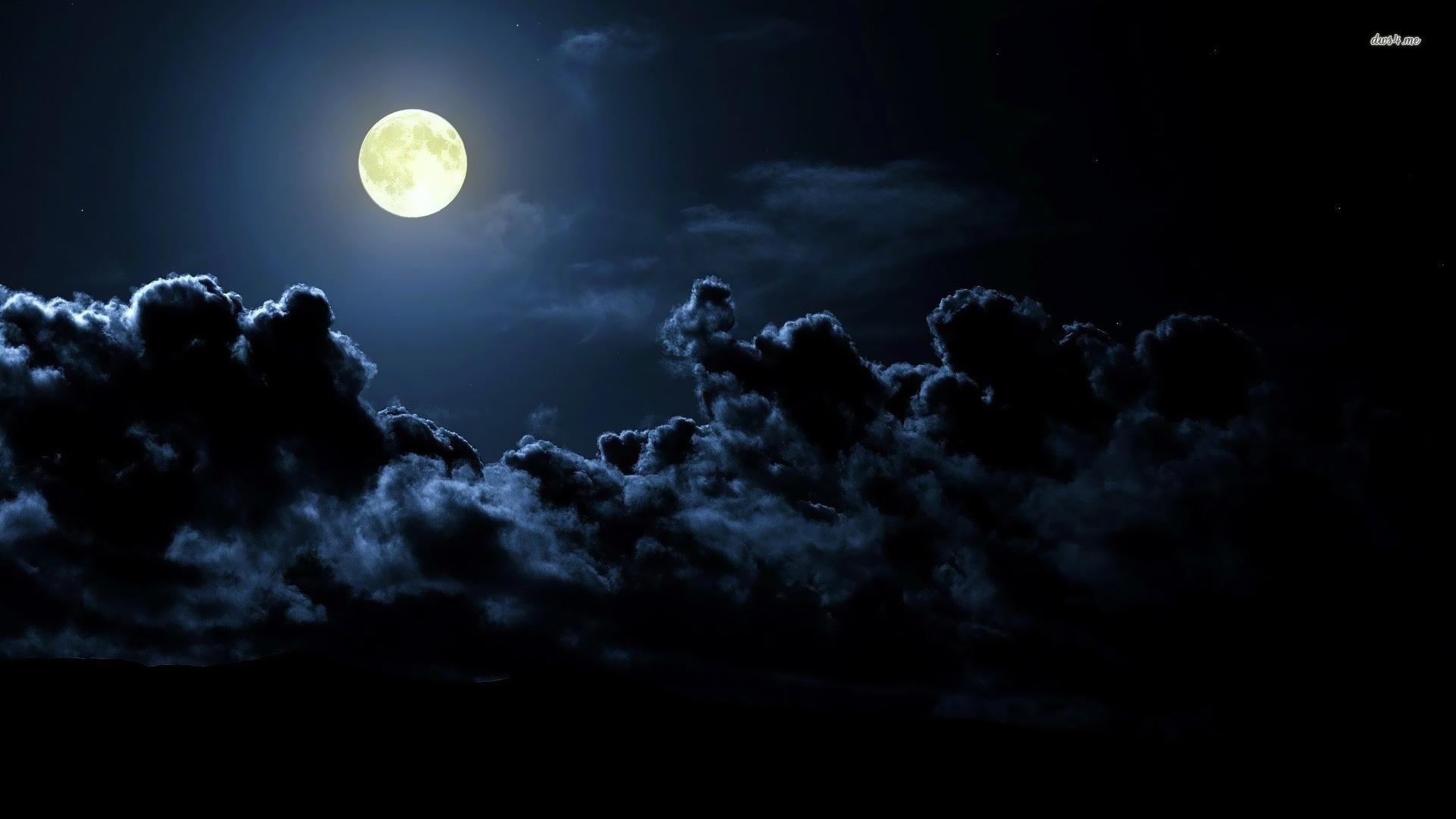 Moon · Cloudy sky wallpaper – Fantasy …