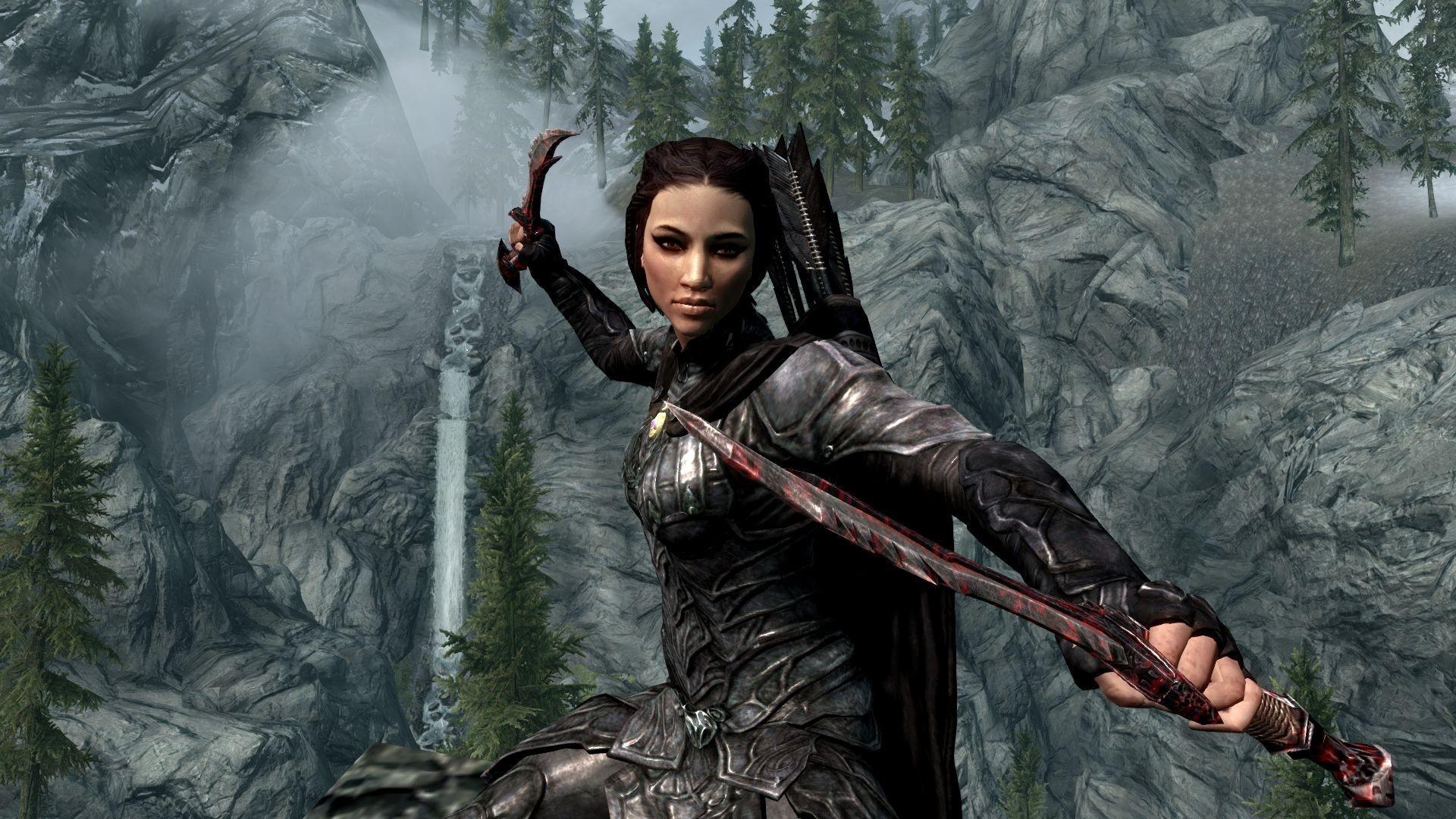 Female Elf Warriors   Papel de Parede de The Elder Scrolls V: Skyrim,  mostrando
