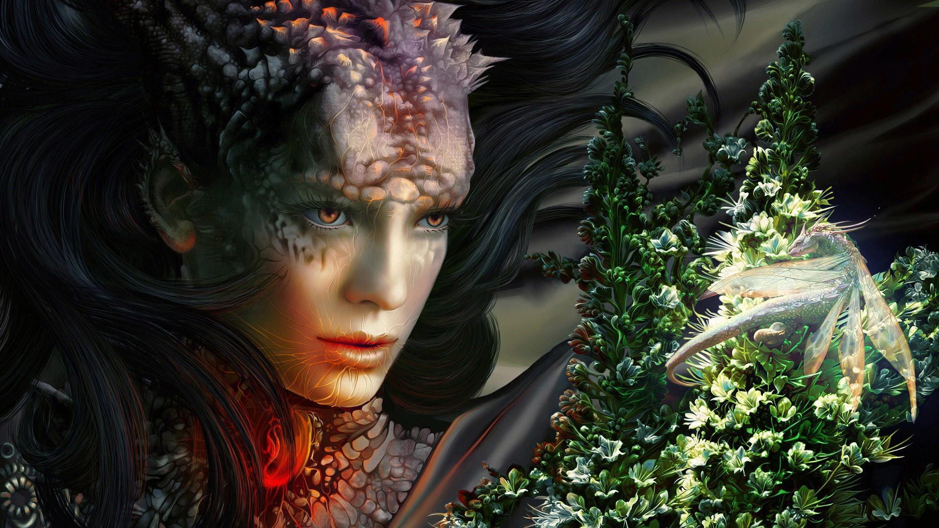 Elf girl fantasy wallpaper.
