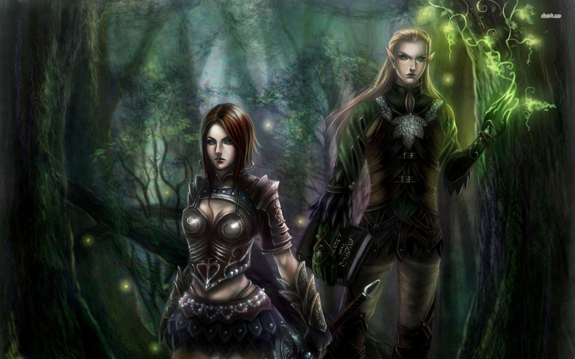 Elf Warriors In The Forest