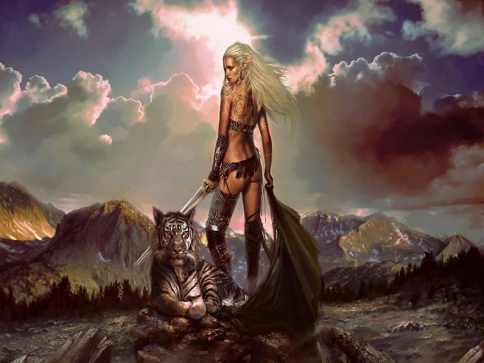 elf pictures and images   elf, Warrior, tiger ipad wallpaper