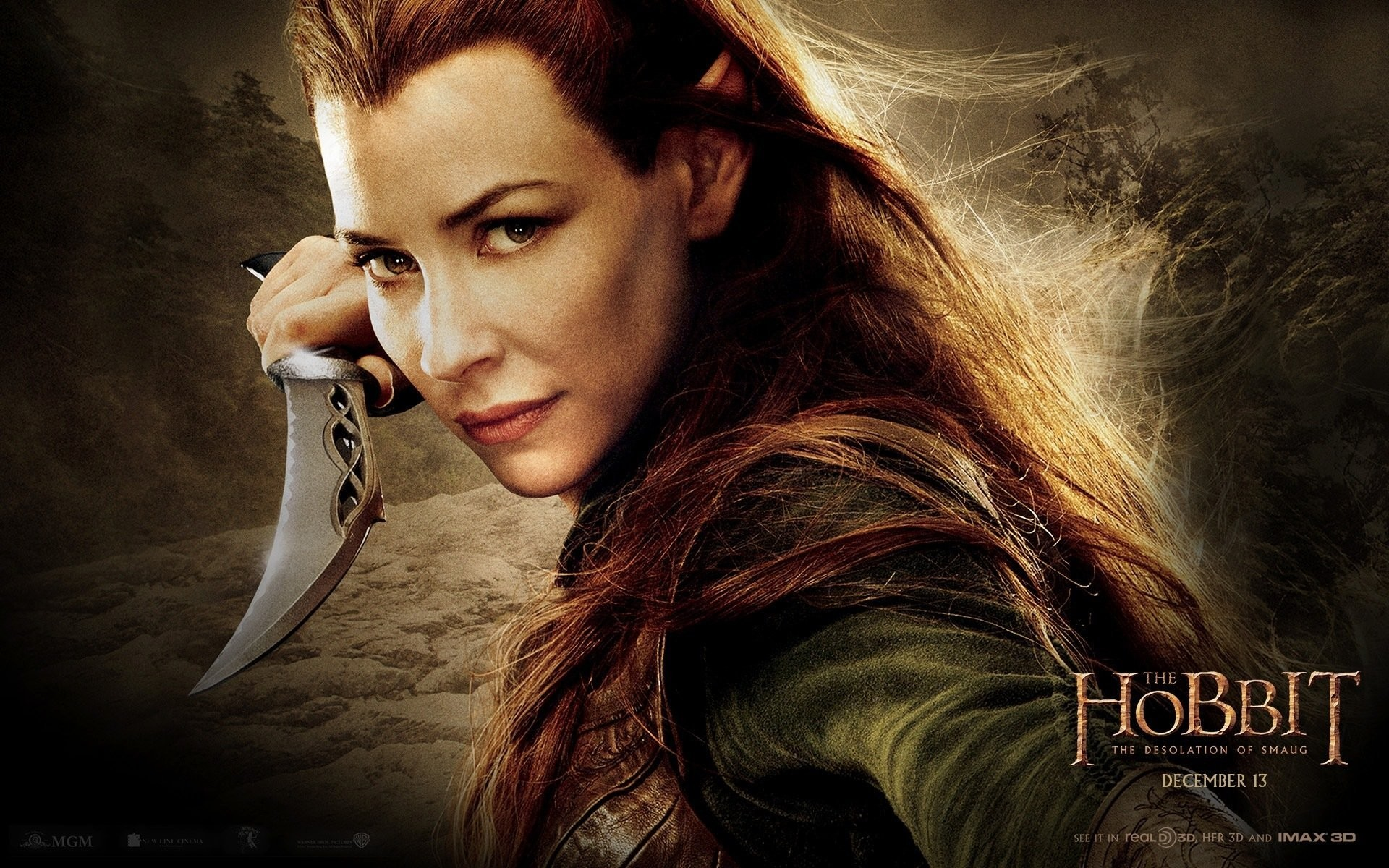 the hobbit the hobbit: the desolation of smaug evangeline lilly tauriel elf  mirkwood hobbies the