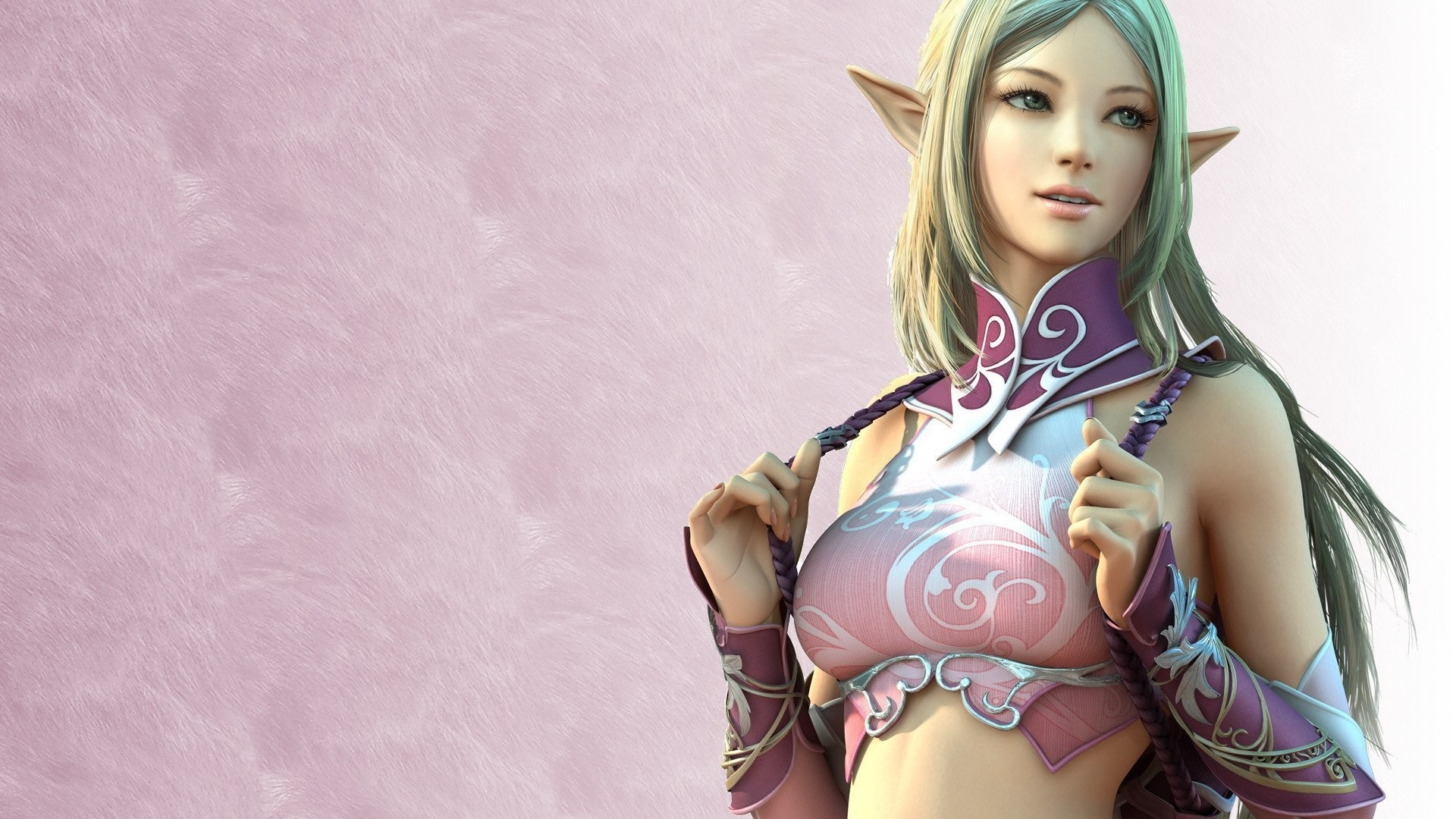 lineage elf girl game wallpapers girl elf games line