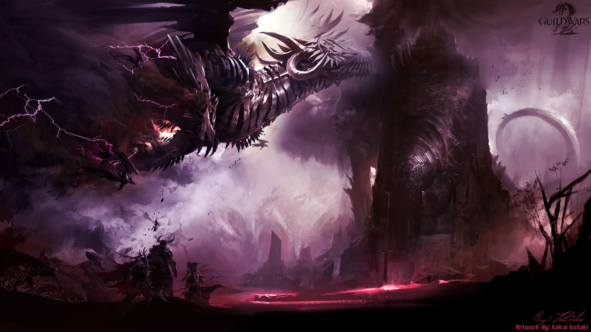 GW2 Dragon 1080p Wallpaper by Lightning Dragon Wallpapers