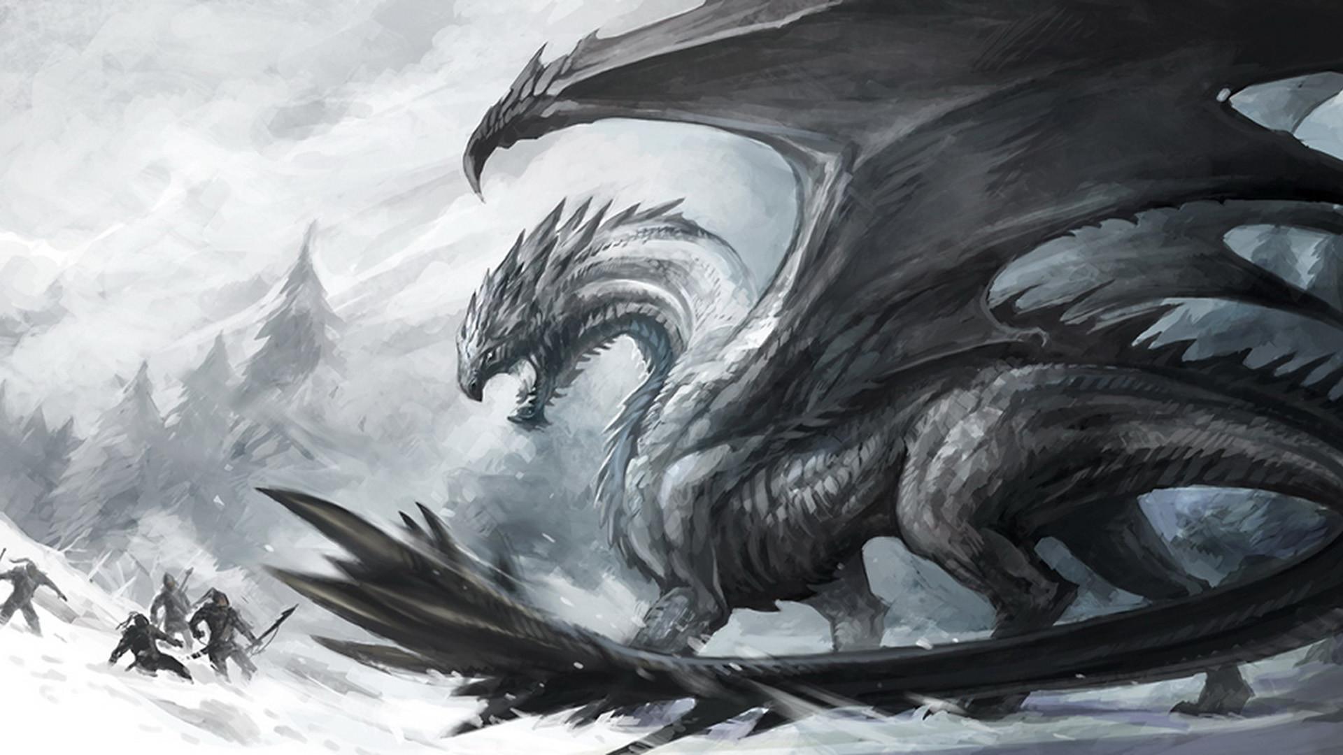 Fantasy Dragon Dark Creature Wallpaper