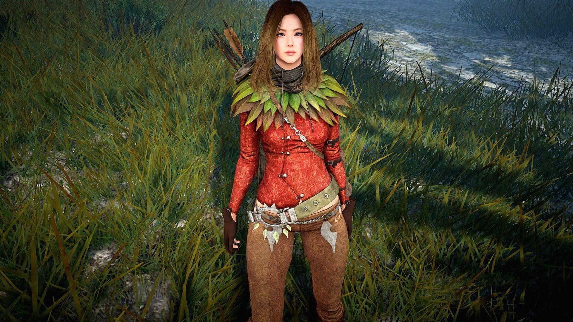 Arts-woman-girl-black desert- fantasy-elf-ranger-archer