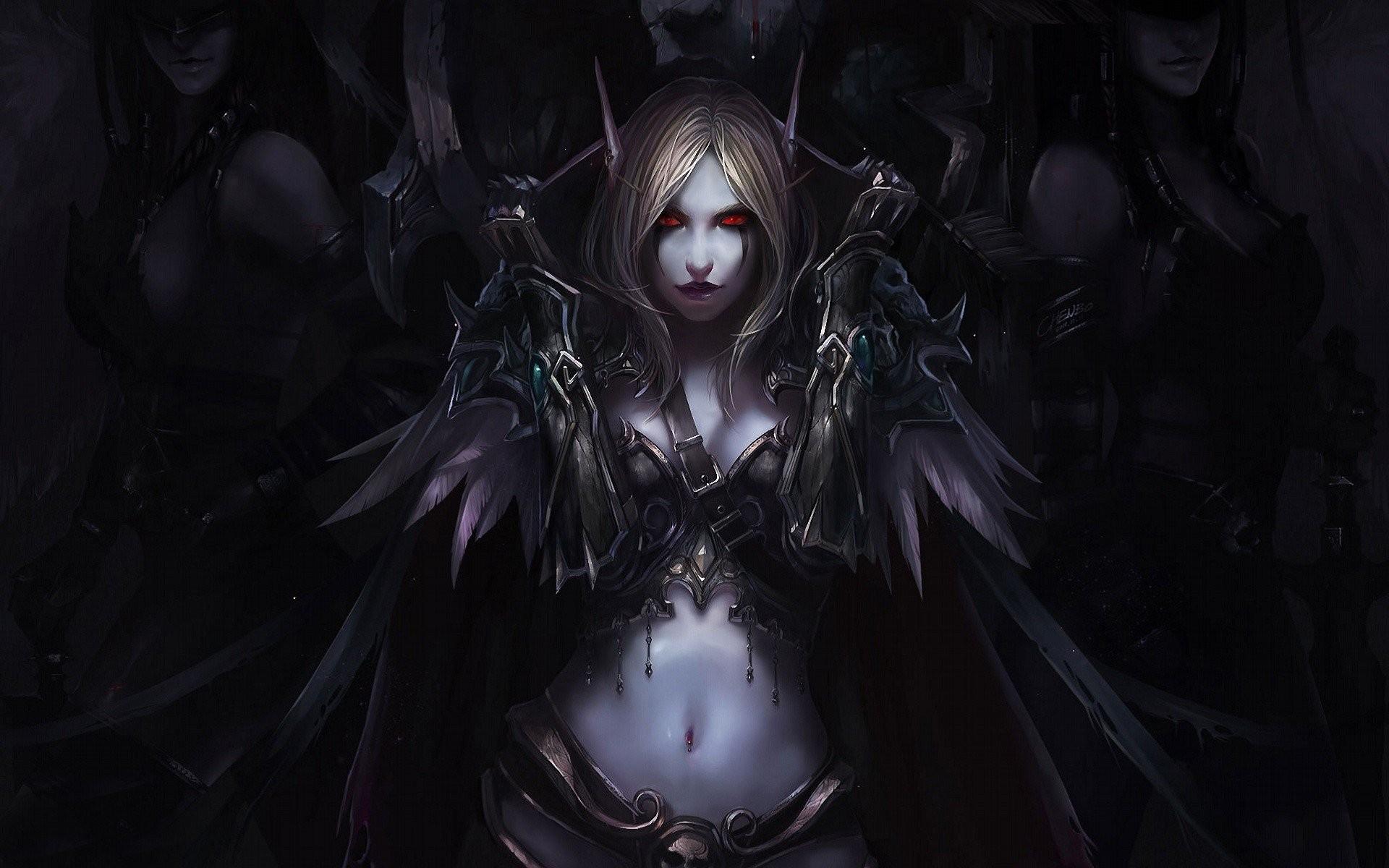 Artwork Elves Fantasy Art Navel Sylvanas Windrunner Video Games Warcraft  WarCraft III Women World Of